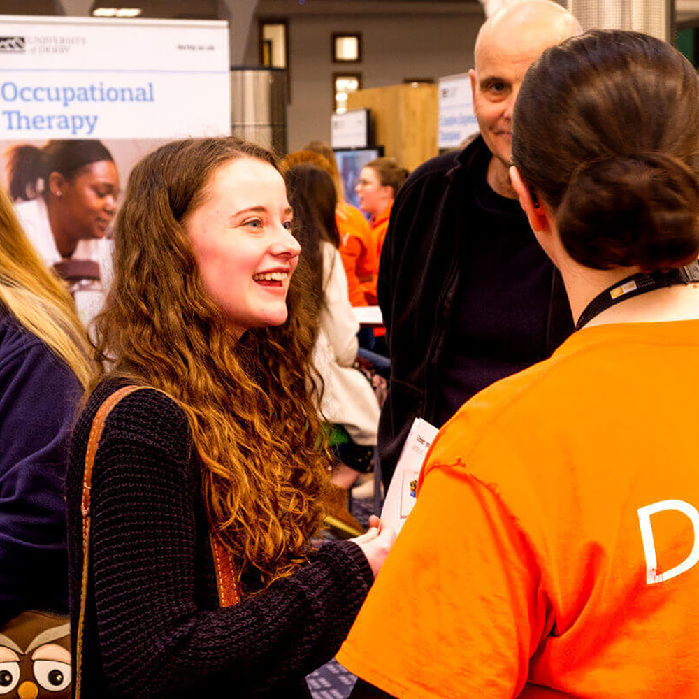 Student at an Open Day