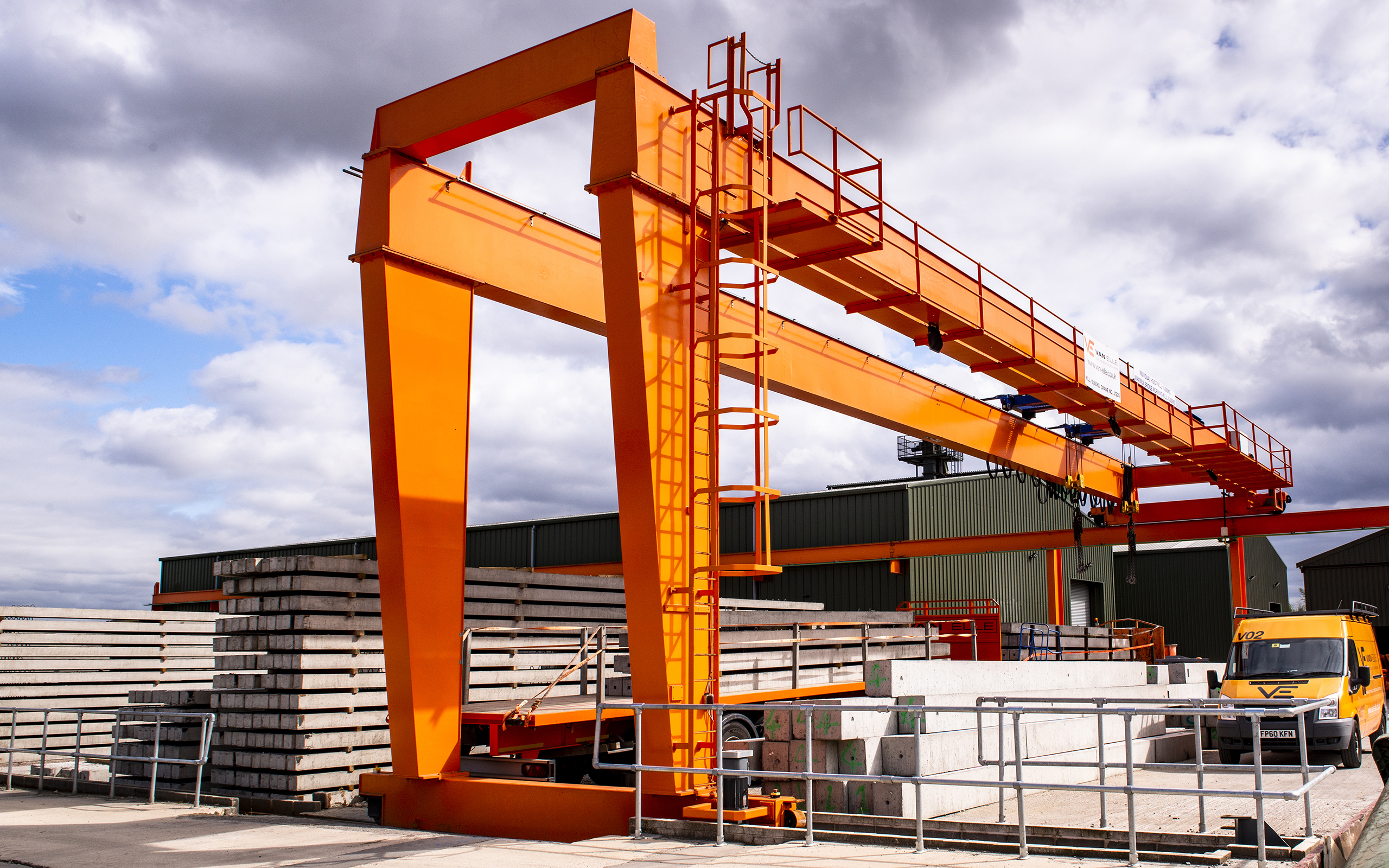 Van Elle Orange structure in their yard