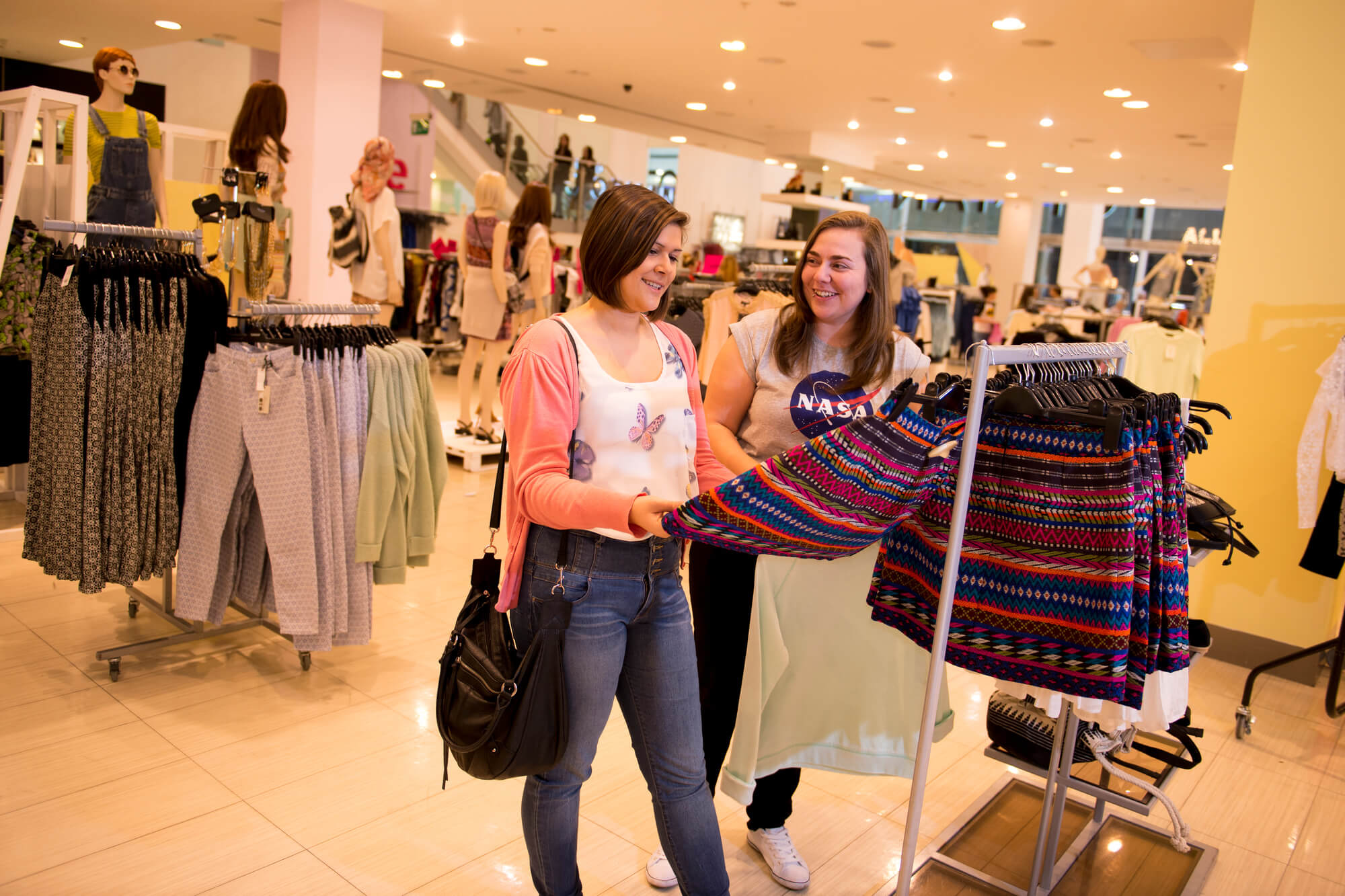 Students browsing at Intu Derby