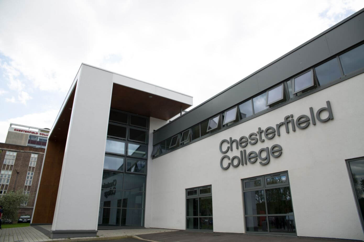 Outside view of Chesterfield College