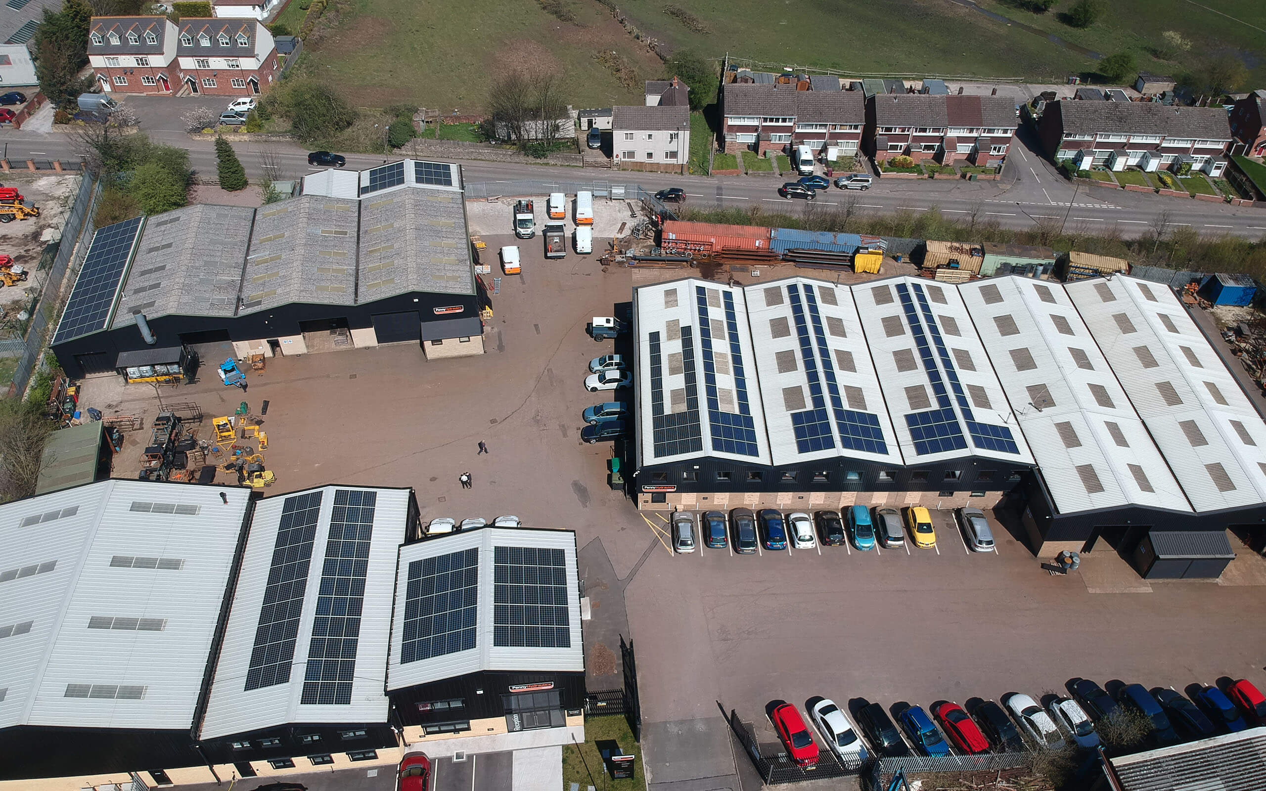 Birds eye view of Penny Hydraulics site