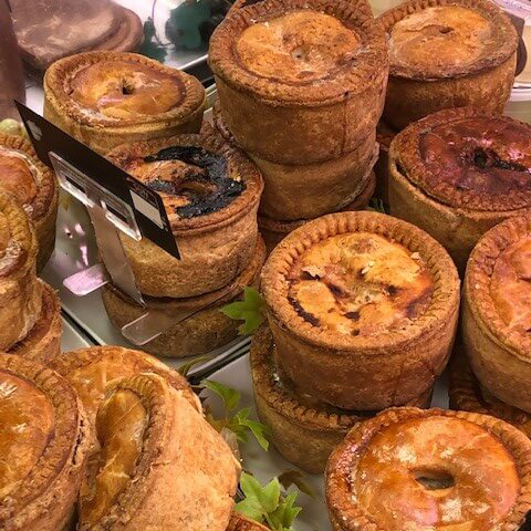 a selection of pork pies