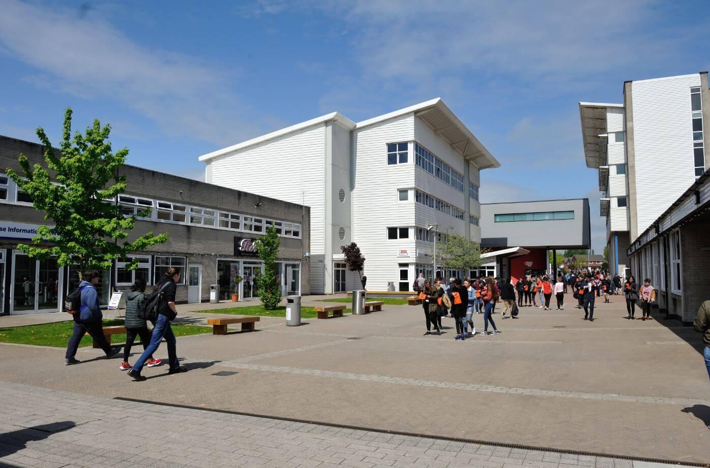Outside view of Preston's college
