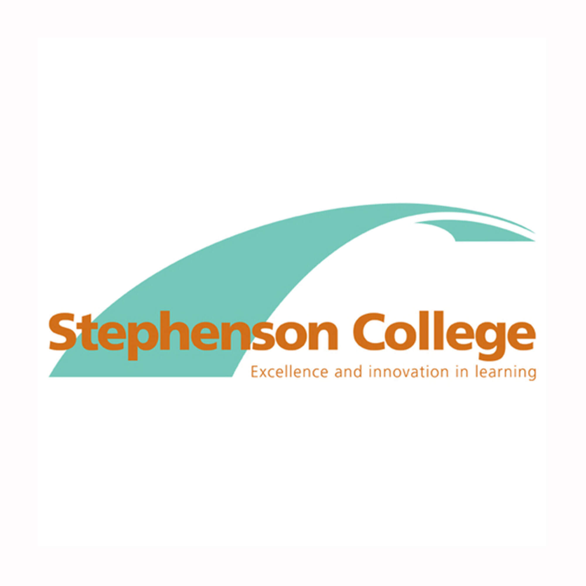 Stepehens college - orange font, green line