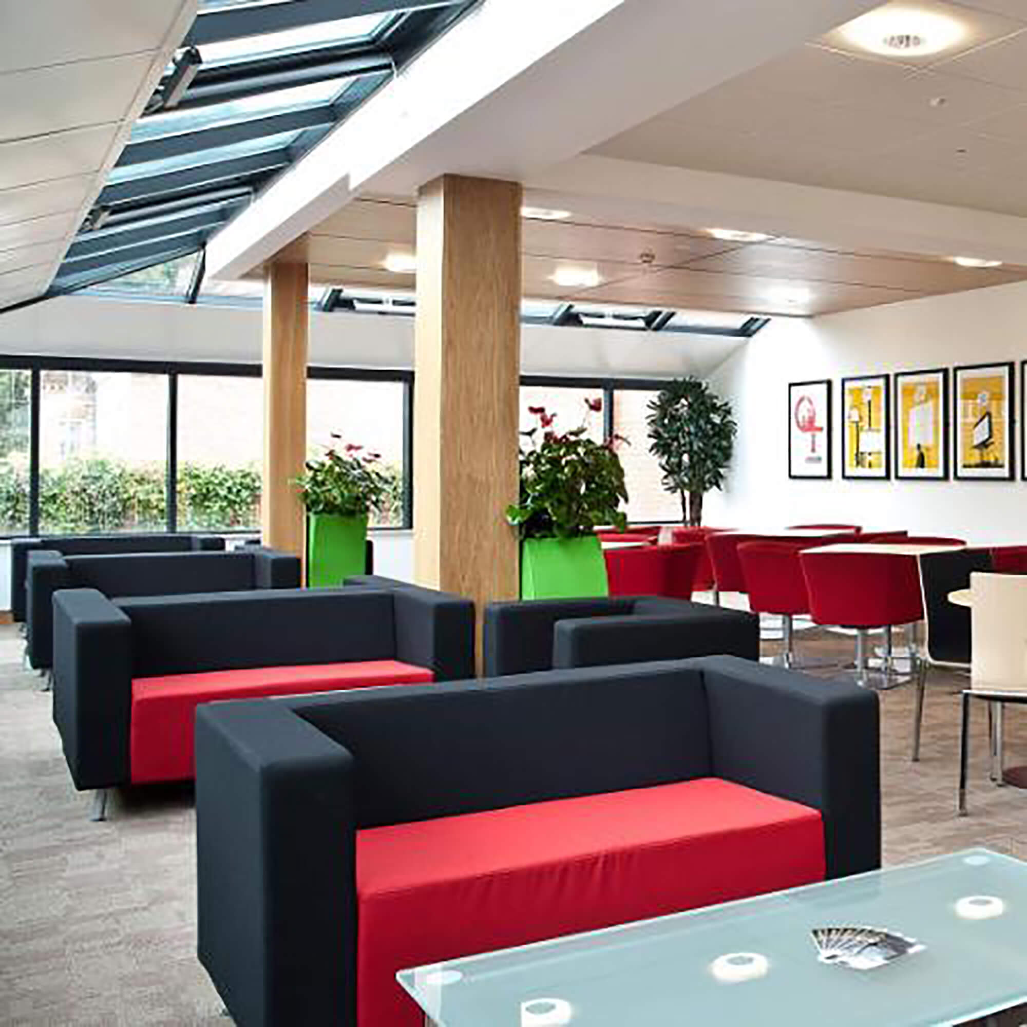 Sofas in informal business space