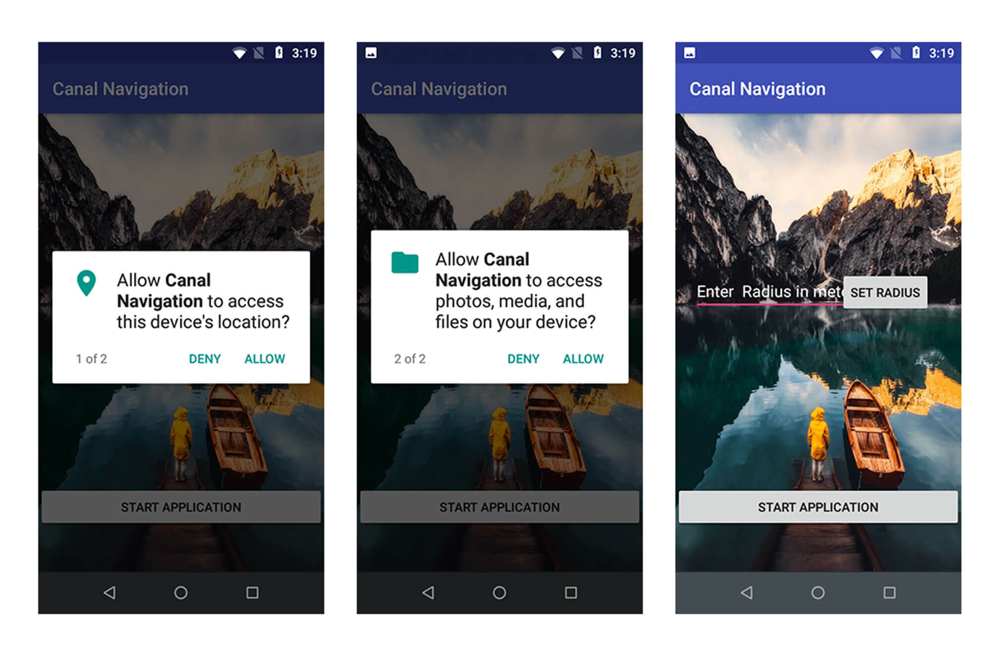 A selection of mobile phone app examples