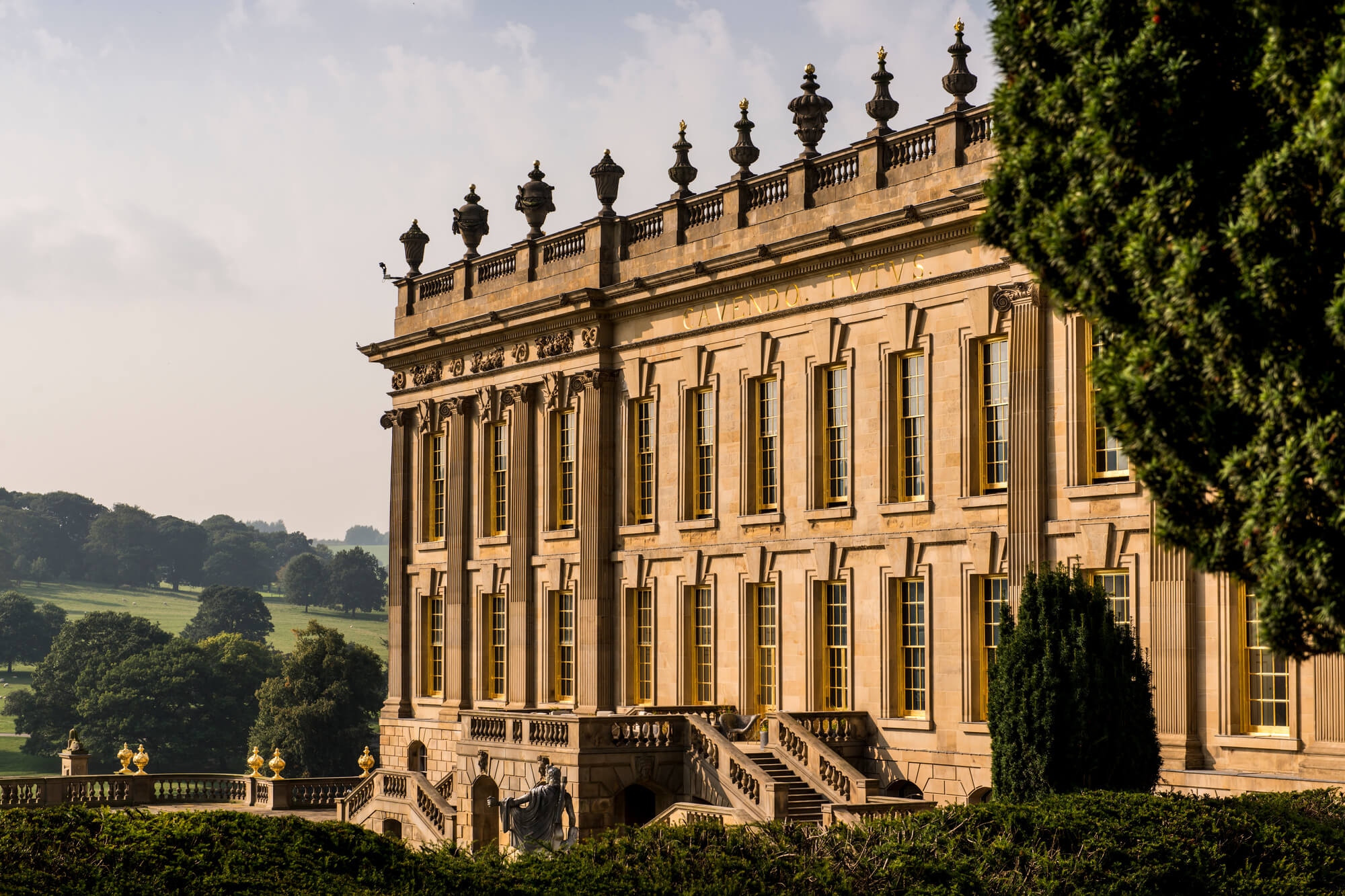 Close-up view of Chatsworth House