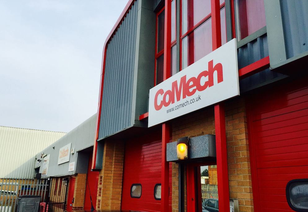 The outside of CoMech Metrology's offices