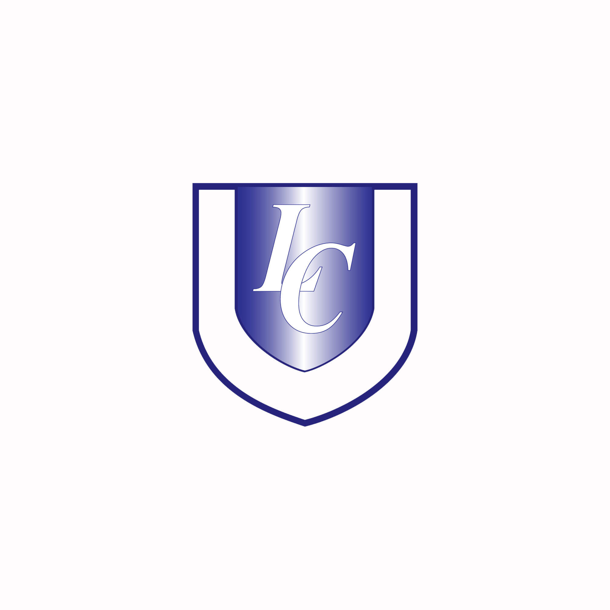 a blue shield with LC in the middle
