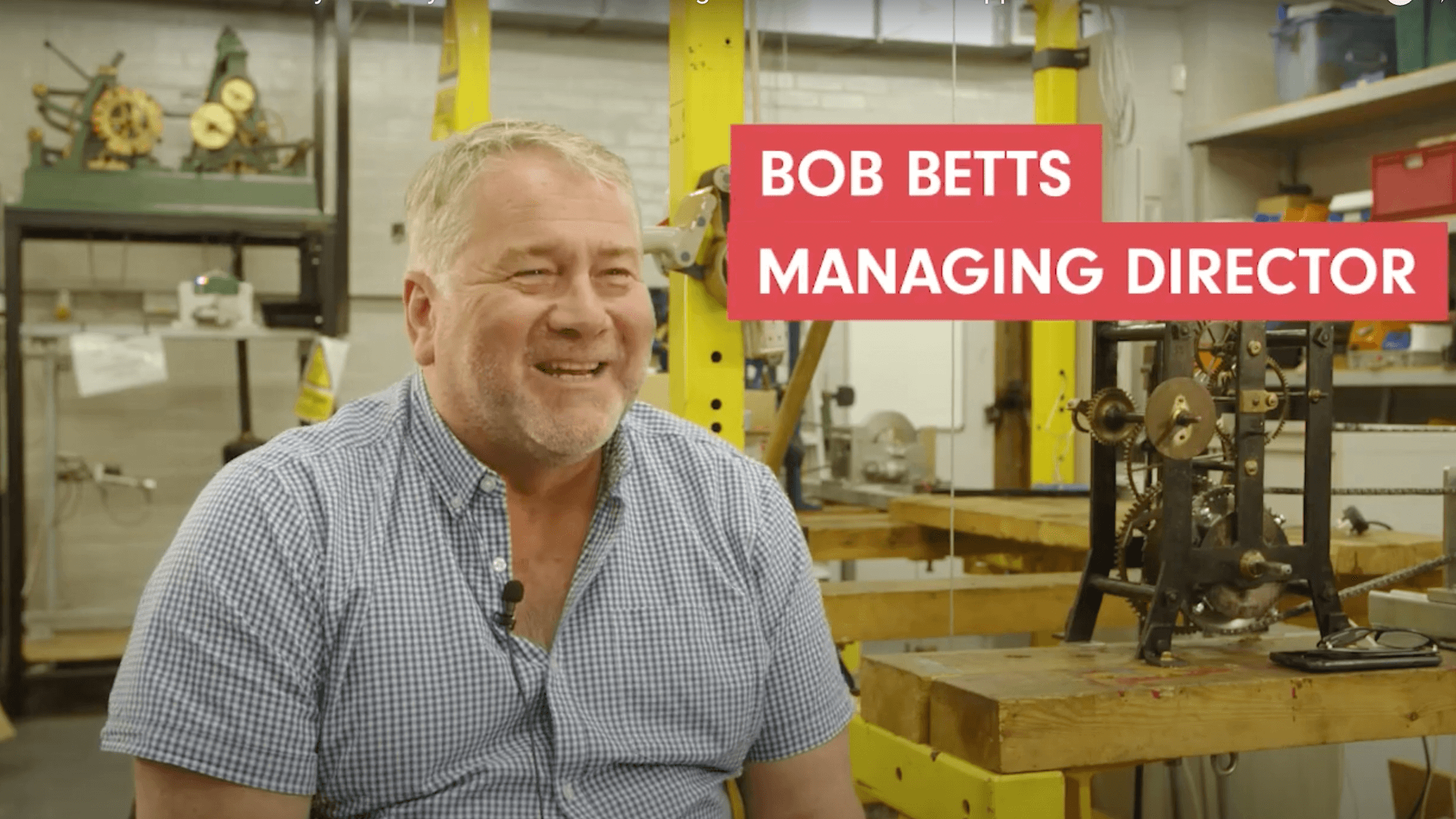 Video interview with Bob Betts, Managing Director of Smith of Derby Ltd