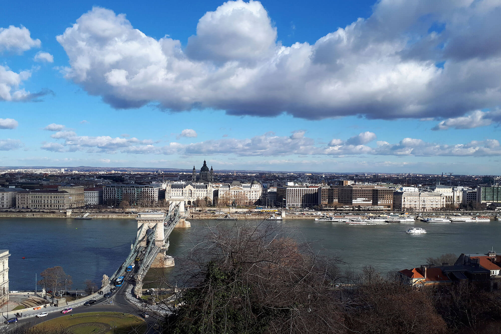 Panoramic view of Budapest looking over the river