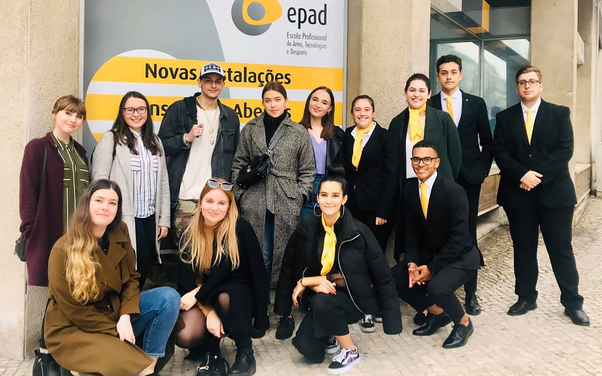 Students on an EPAD guided tour in Lisbon