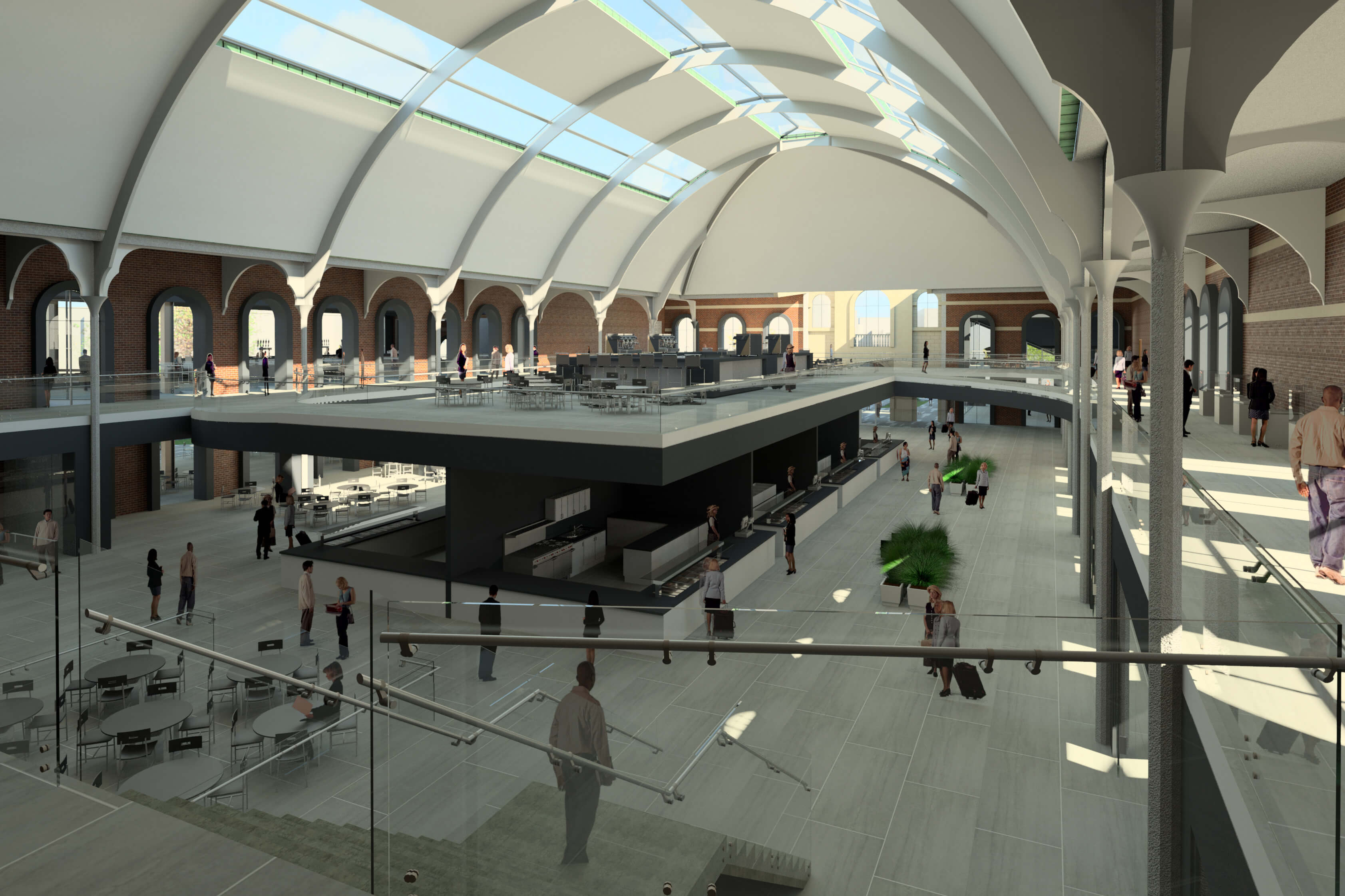 Matt Davies's design for Derby Market Hall interior