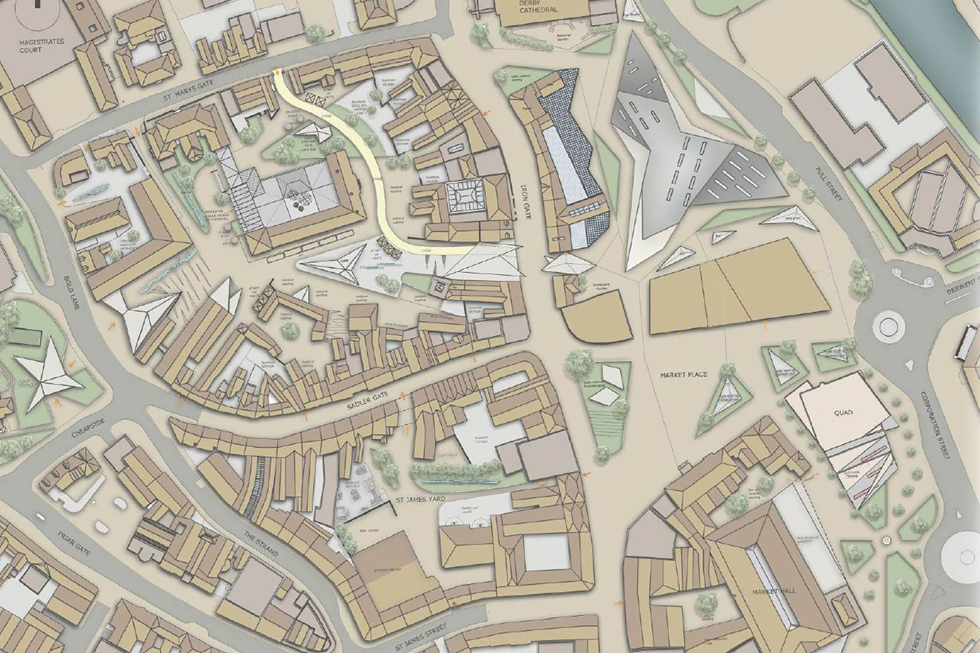 Jess Moore's Derby city centre plan