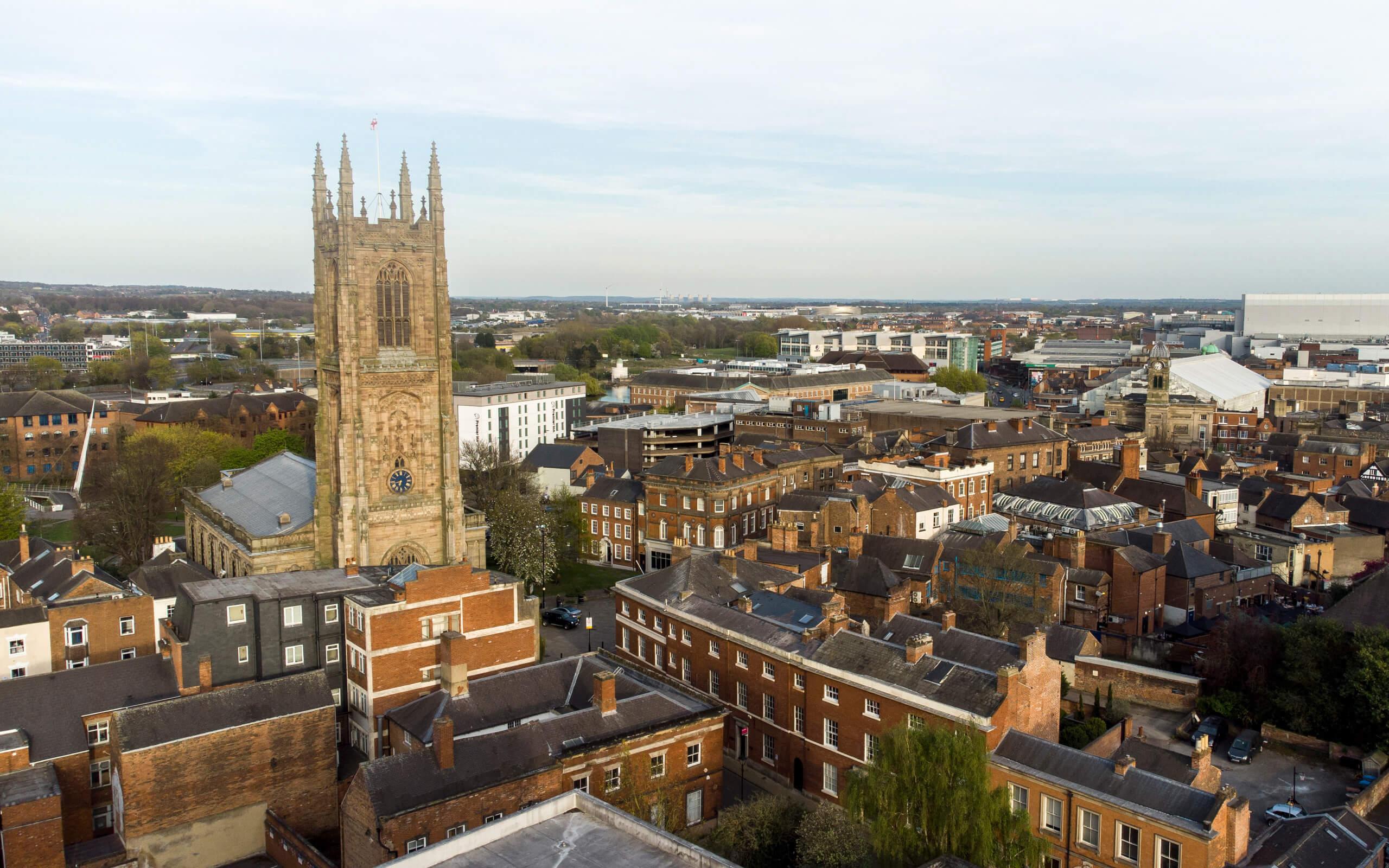 Skyline image of Derby city centre
