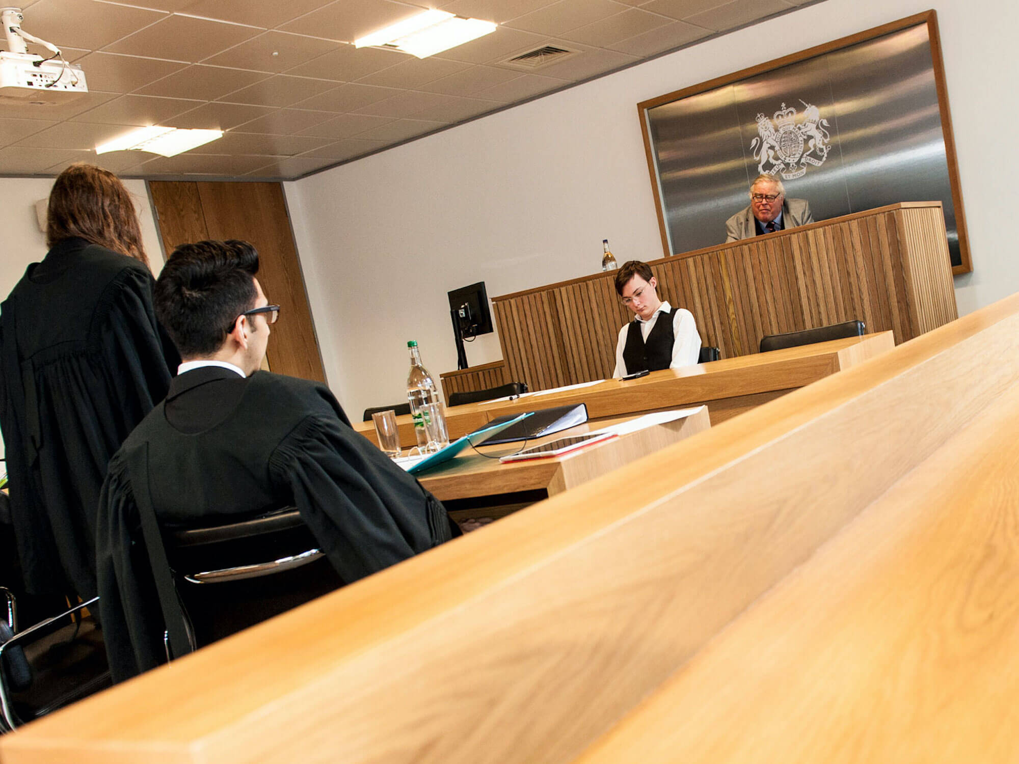 A 360 view of the University of Derby's mock Crown Courtroom at One Friar Gate Square