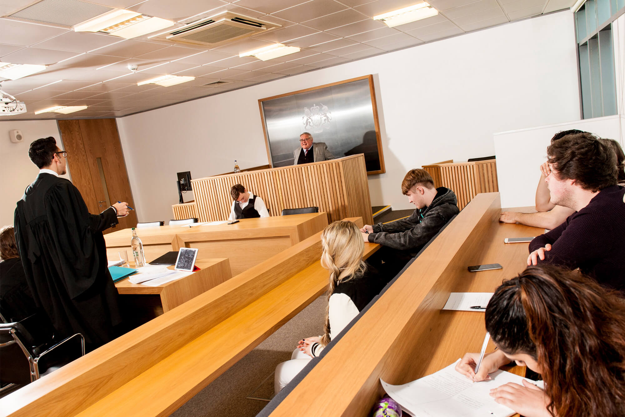 students in courtroom