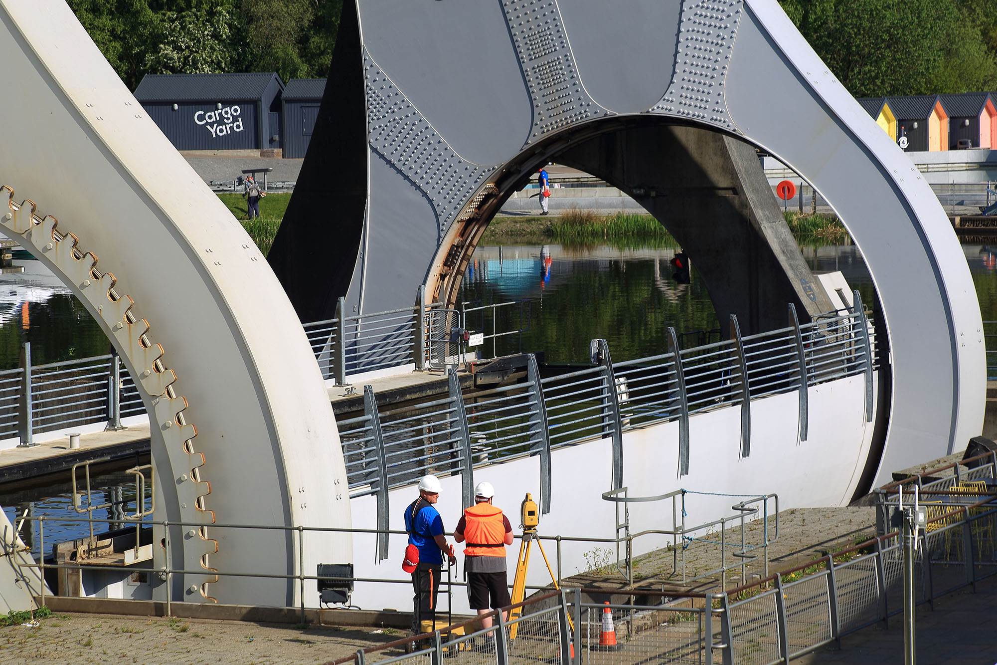 Students at the Falkirk Wheel