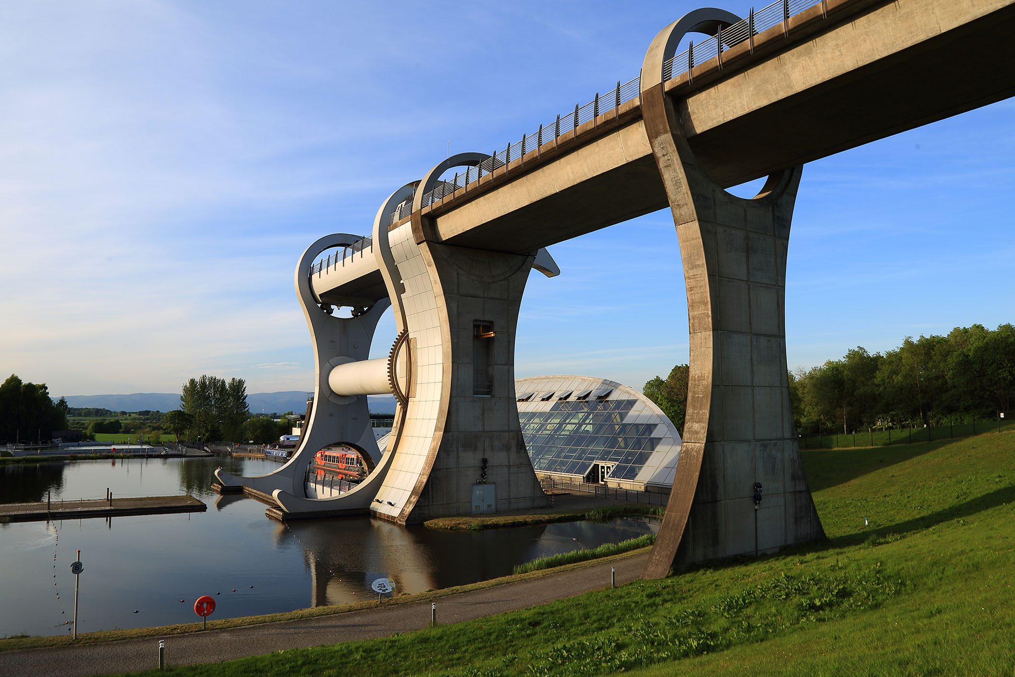 A picture of the Falkirk wheel