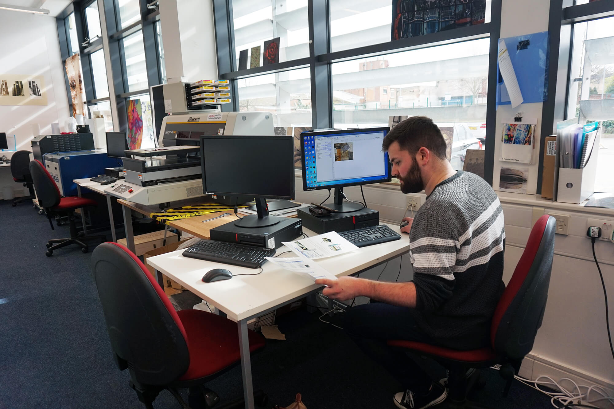 Working in the Digital Design Hub at Markeaton Street