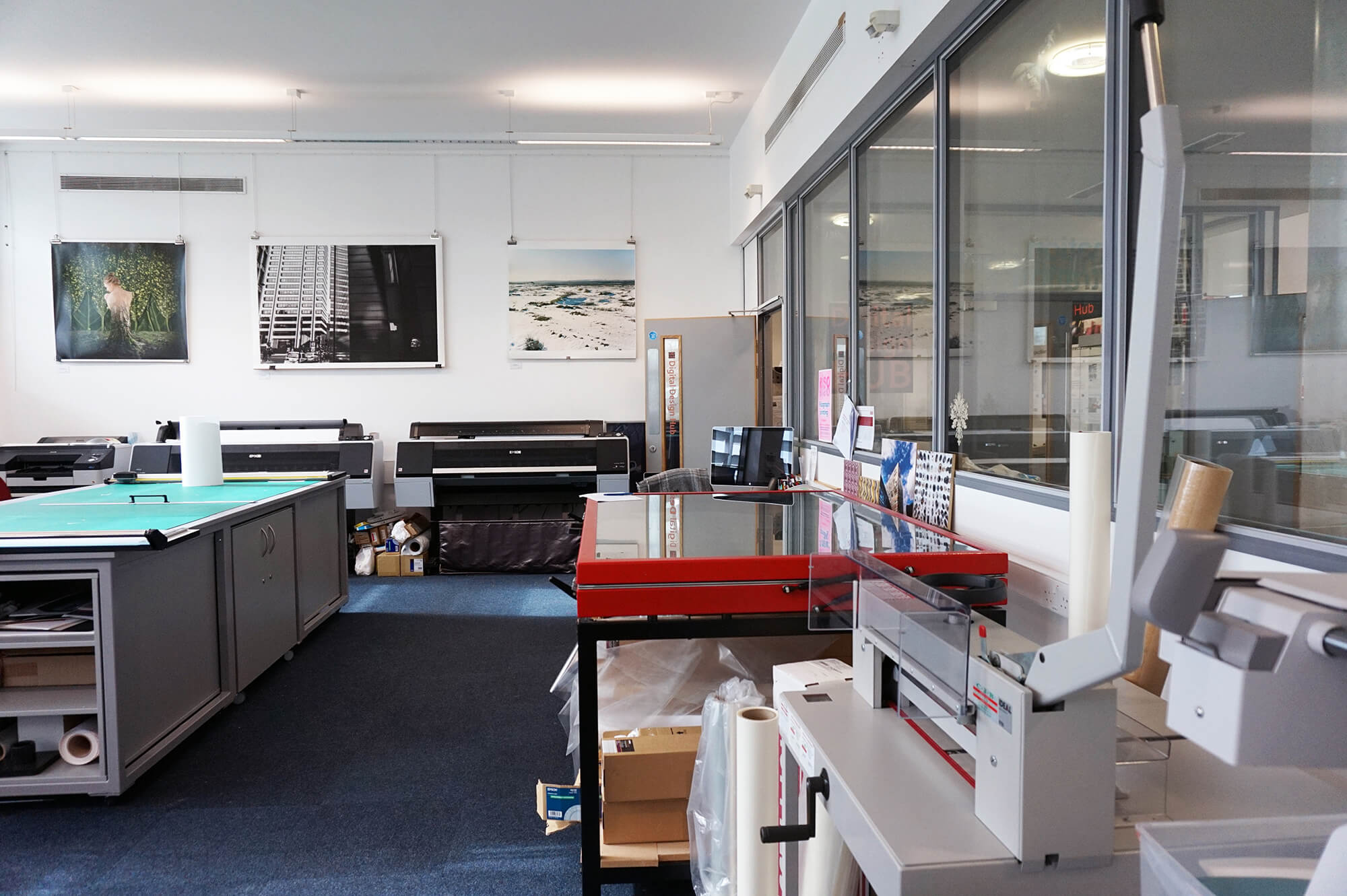 Printing equipment in the Digital Design Hub