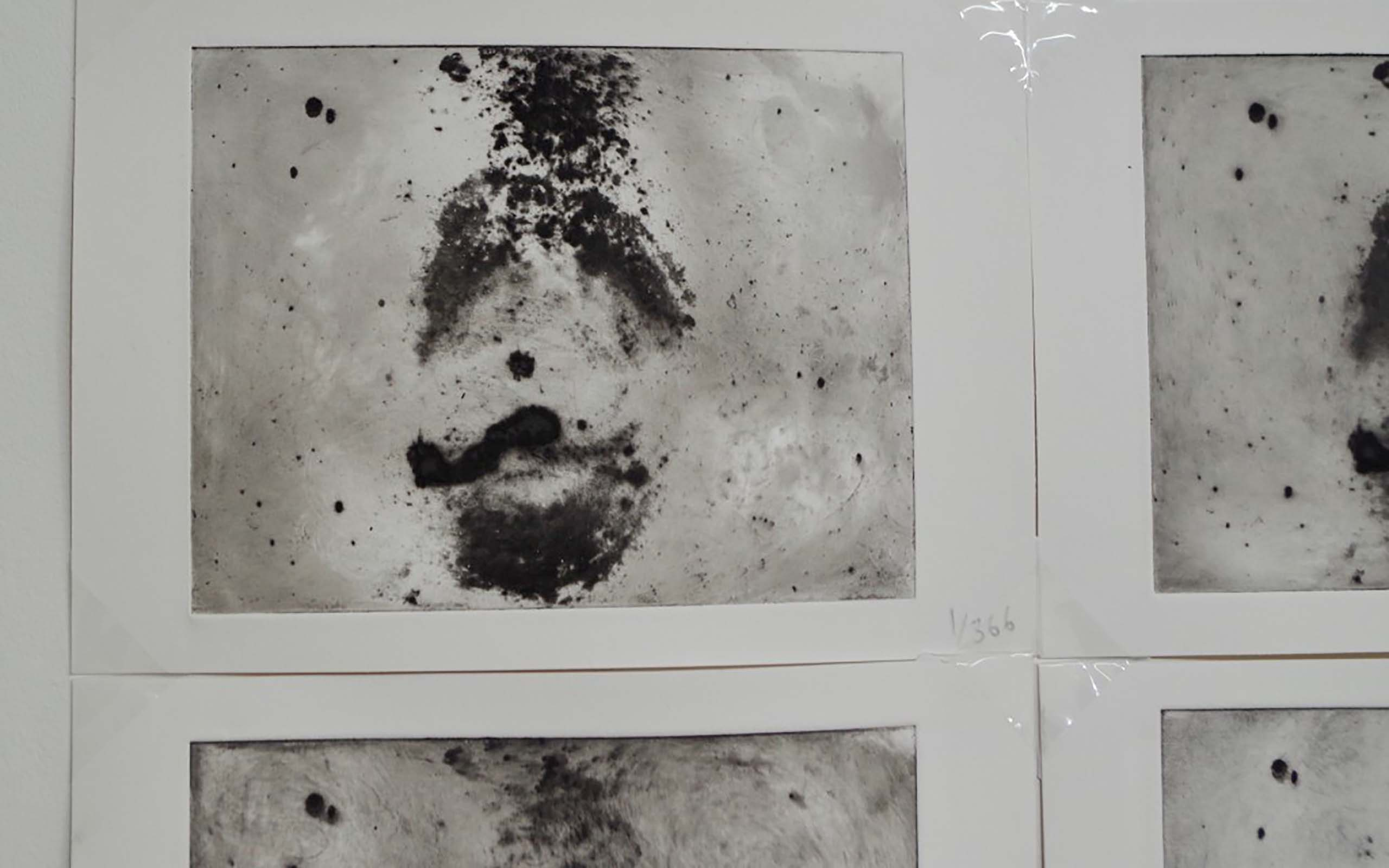 Angela Bartram's 366:366 (eventually) - exhalation on an etching plate