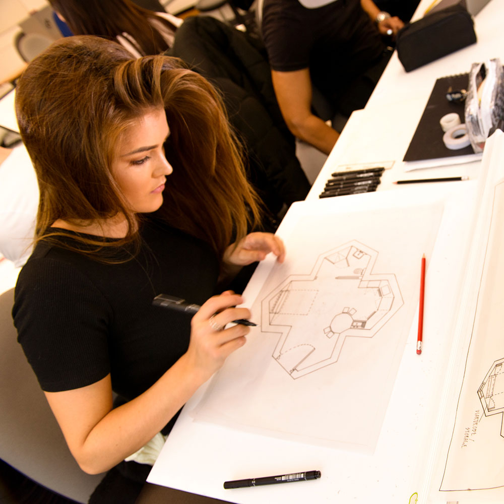Interior Design students at Markeaton Street