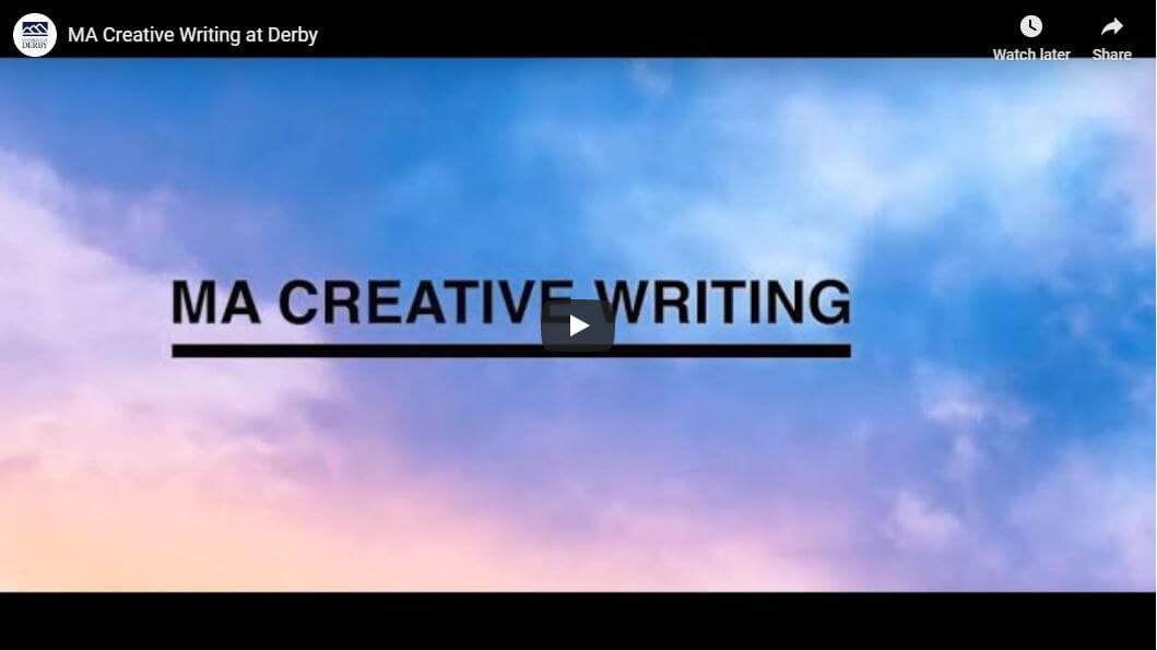 A video about studying Creative Writing at Derby