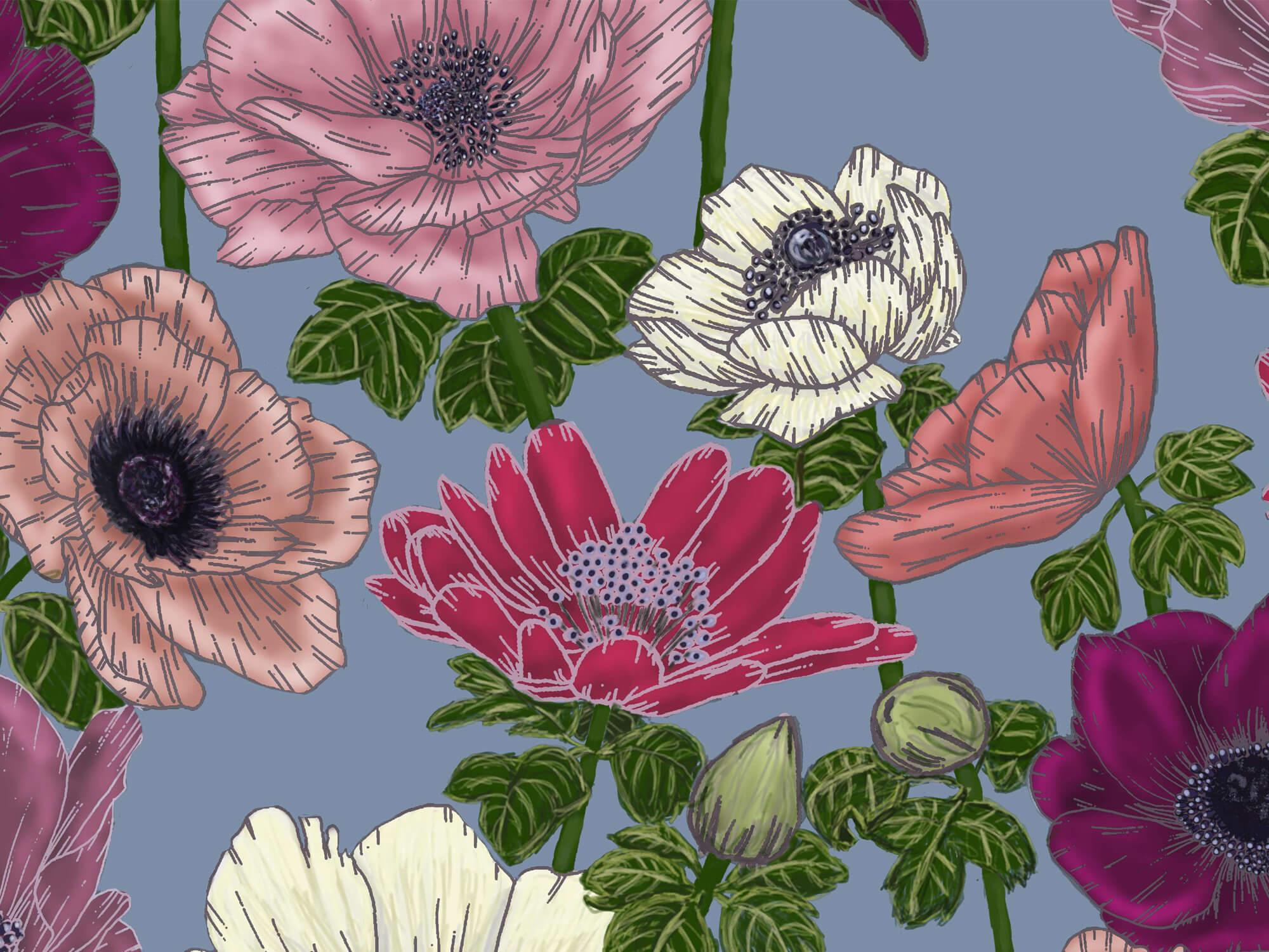 Student work of digital textile design