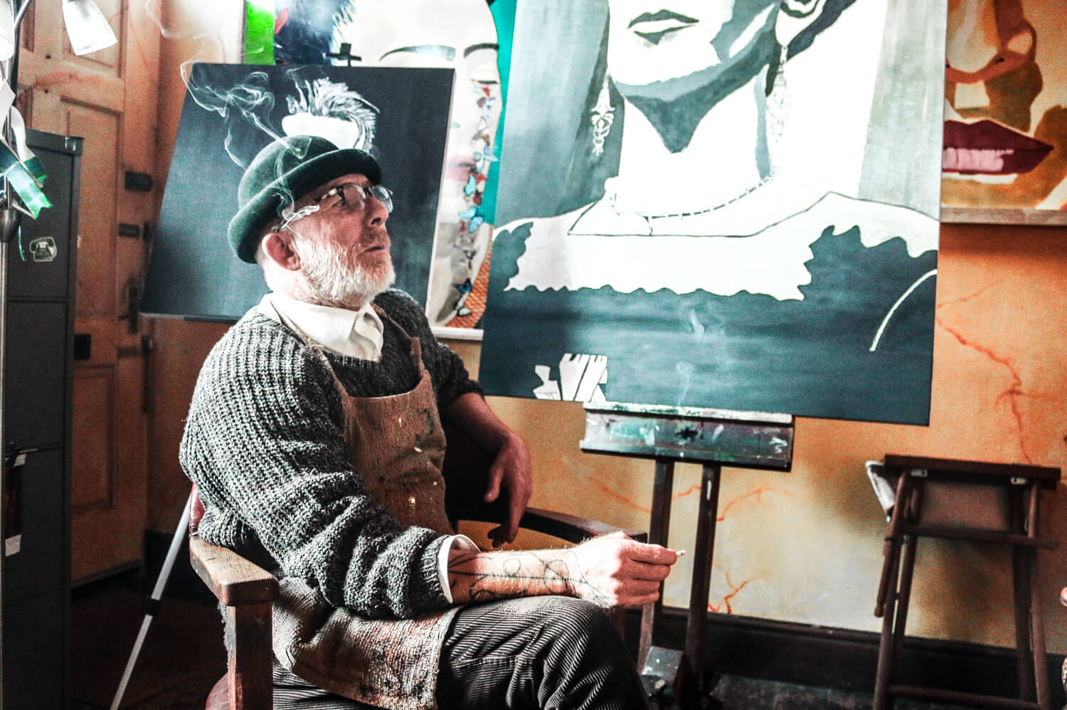 John McDonald in his studio