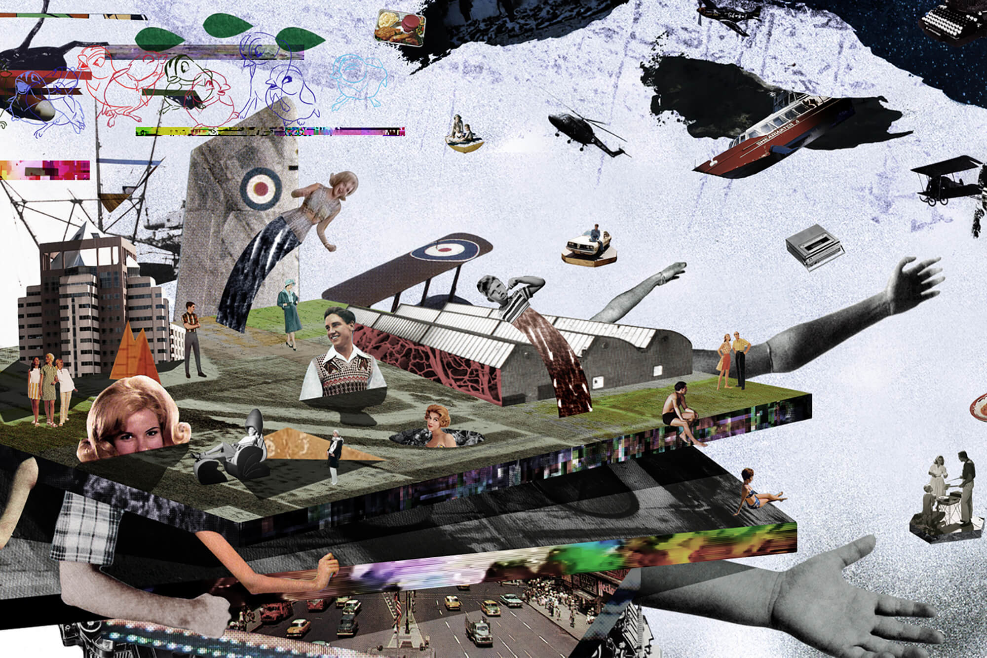 Marc Bosward Untitled Work in Progress collage