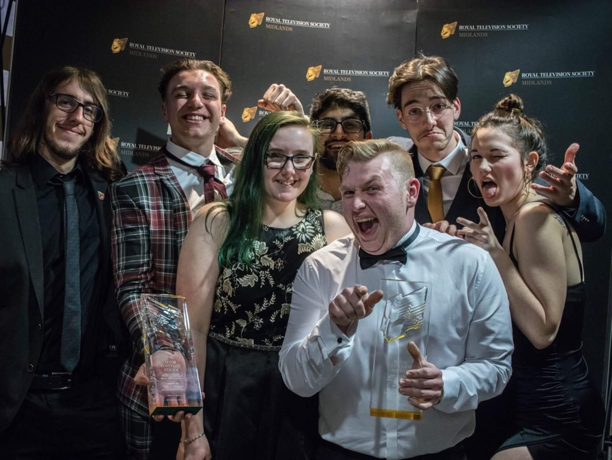 Meatball team at awards