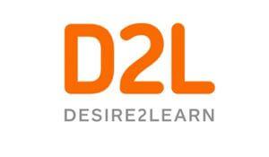 D2L Logo. Desire to Learn.