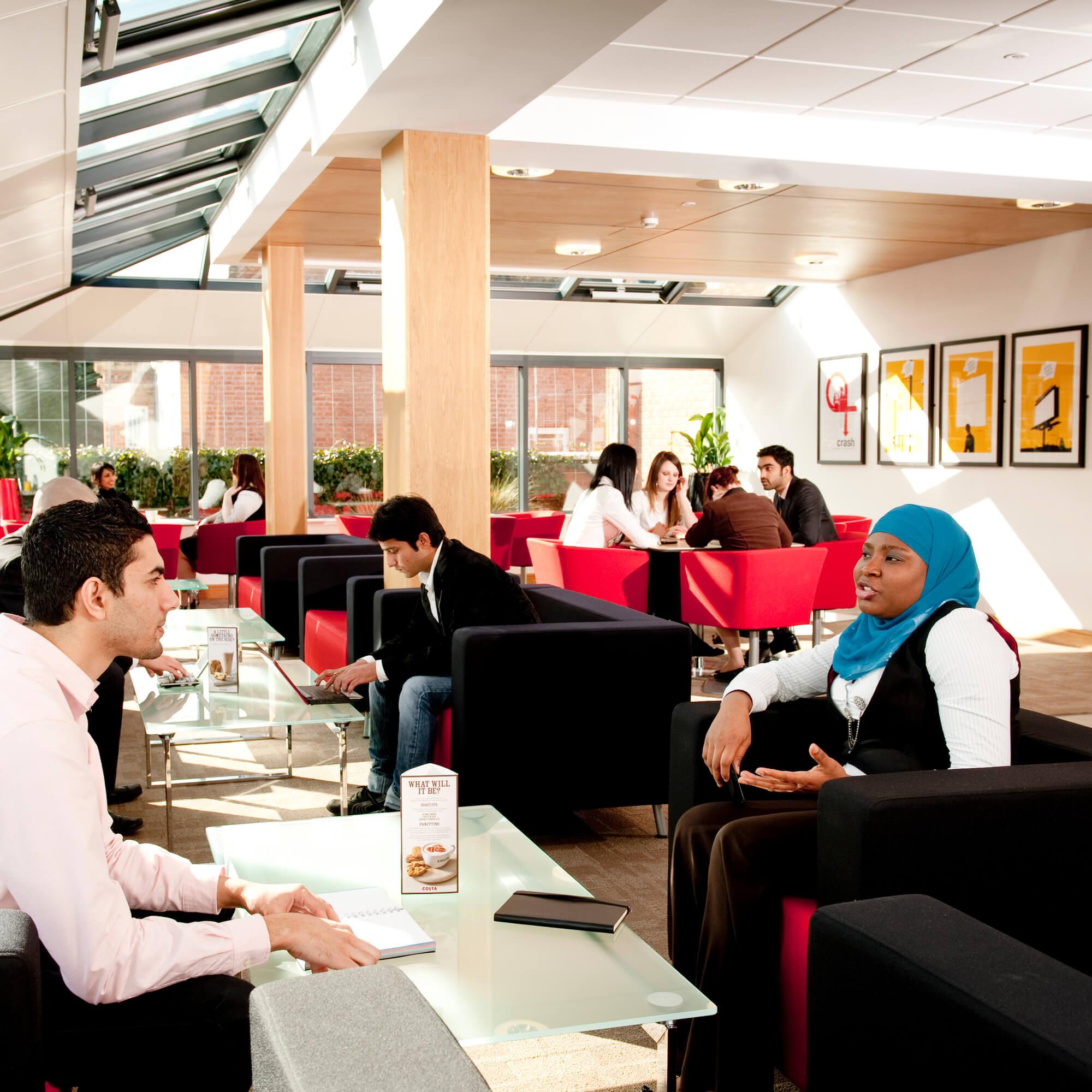 Breakout space at Enterprise Centre