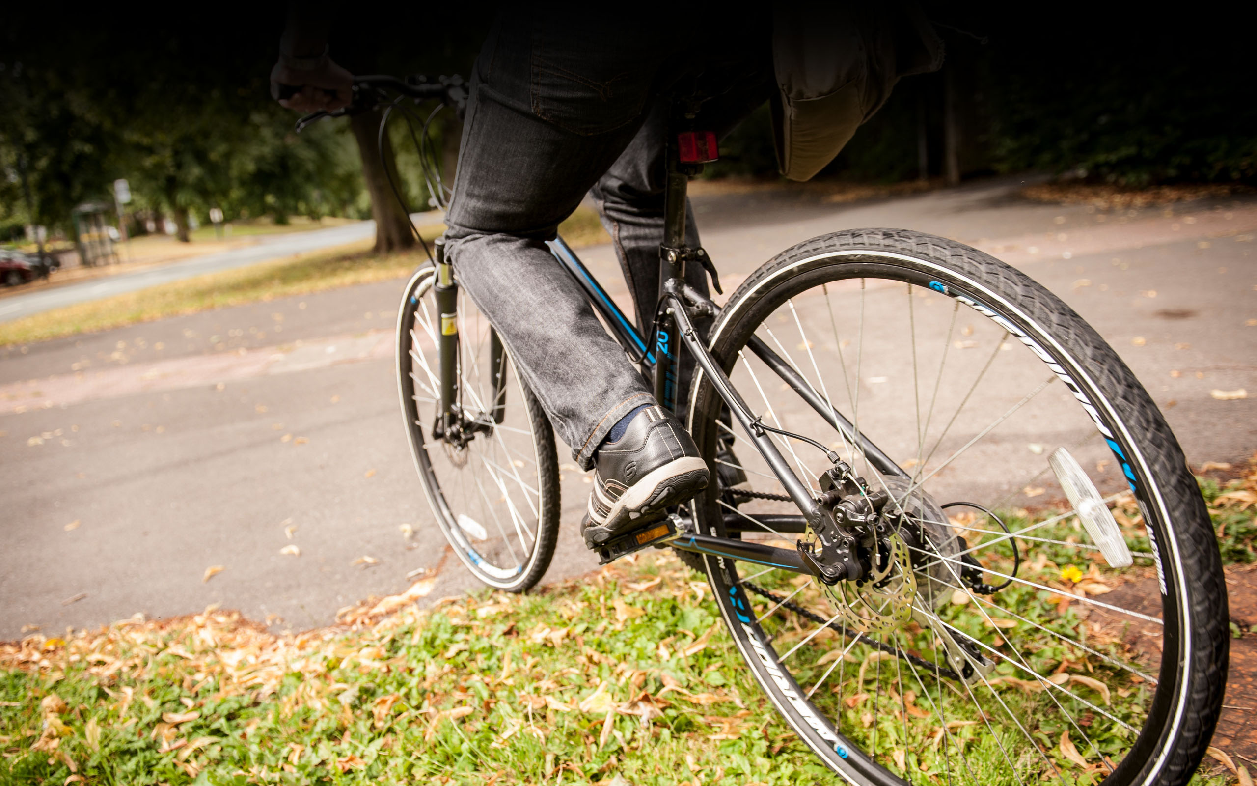 Close up image of bike