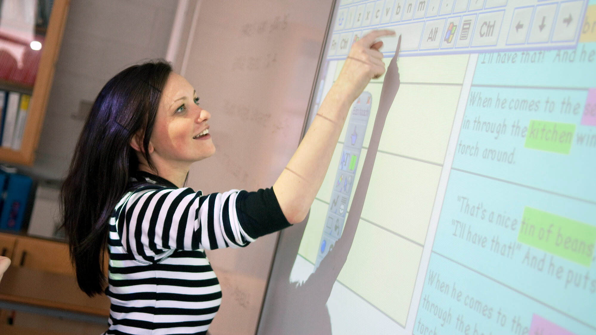 Apprenticeships teacher using a whiteboard