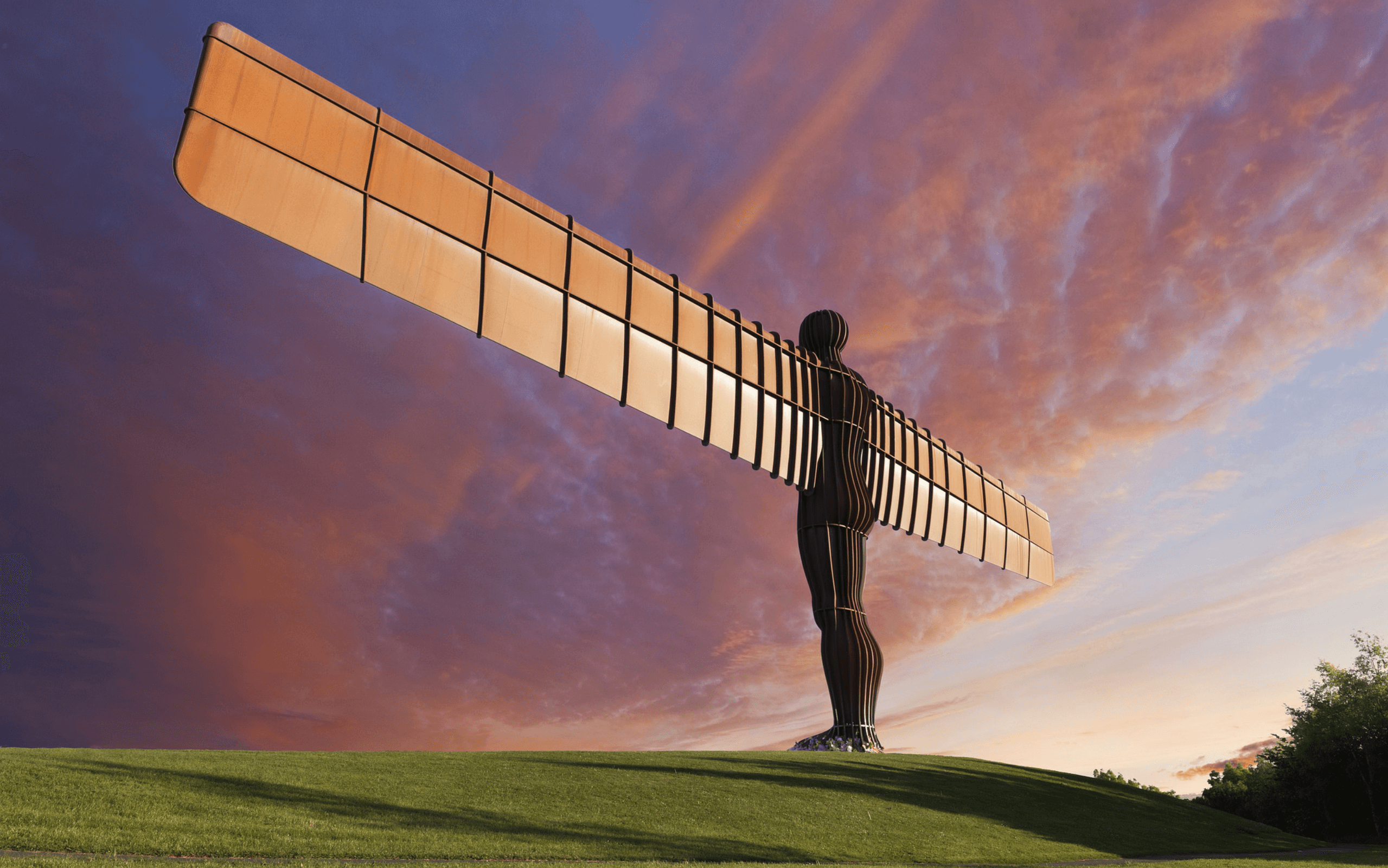 Angel of the North at sunrise
