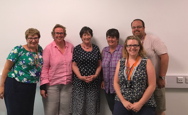 Staff from the Youth Work and Community Development programme meet with MP Pauline Latham.