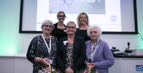 Students and academics celebrating 70 years of occupation therapy