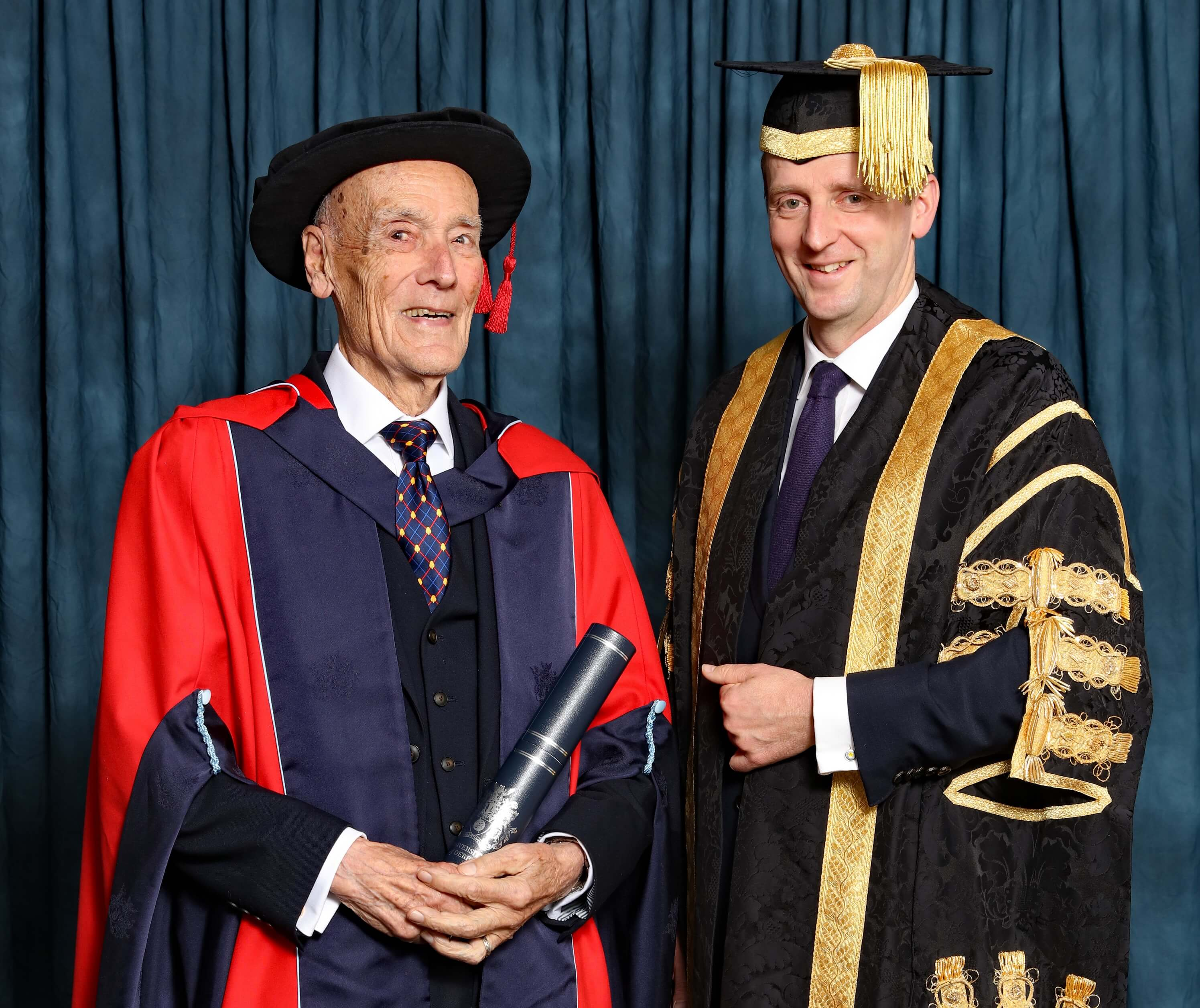 Colin Treadaway-Hoare receiving an Honorary Degree from the University