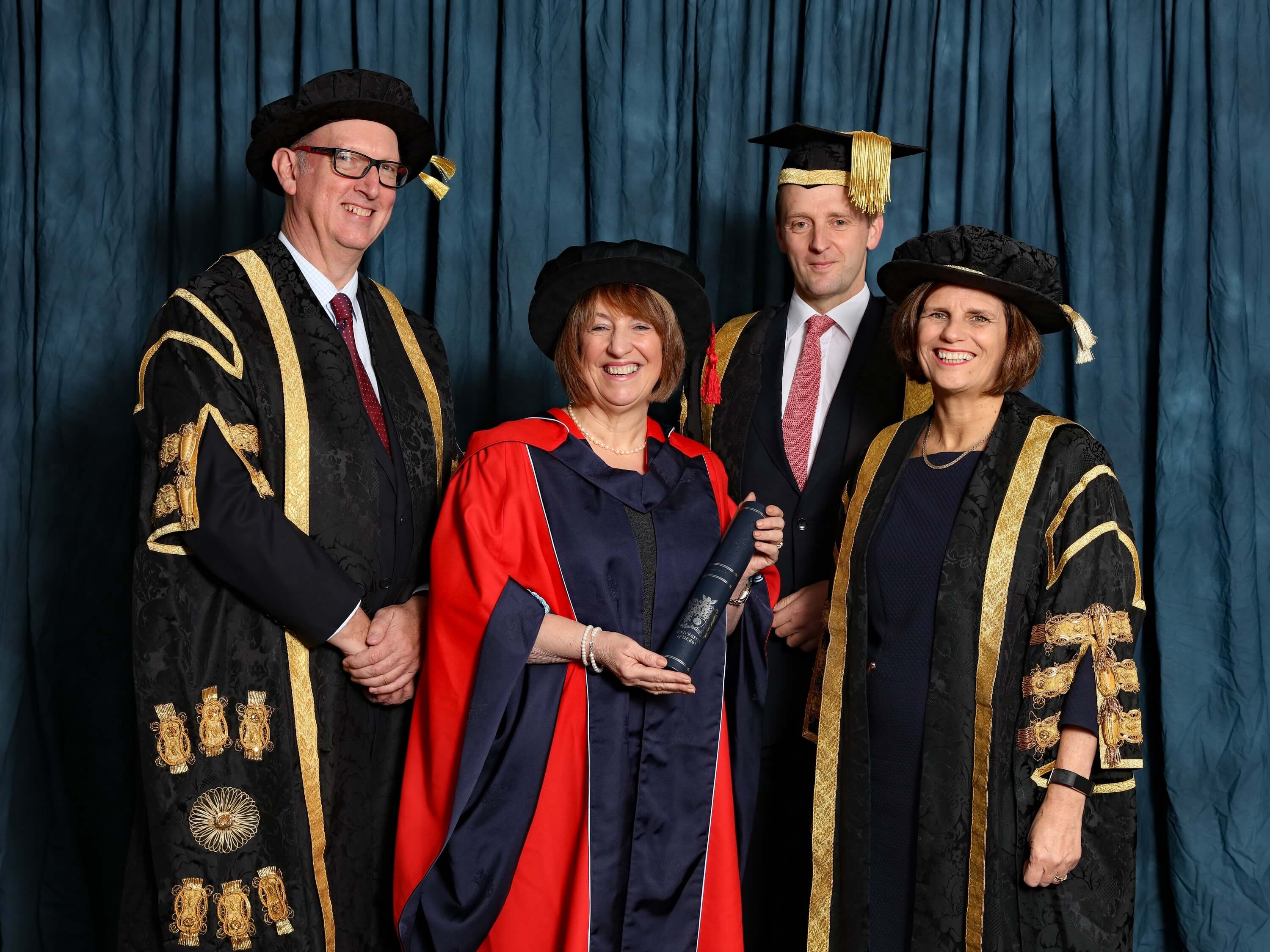 Kay Fawcett receiving an Honorary Degree from the University
