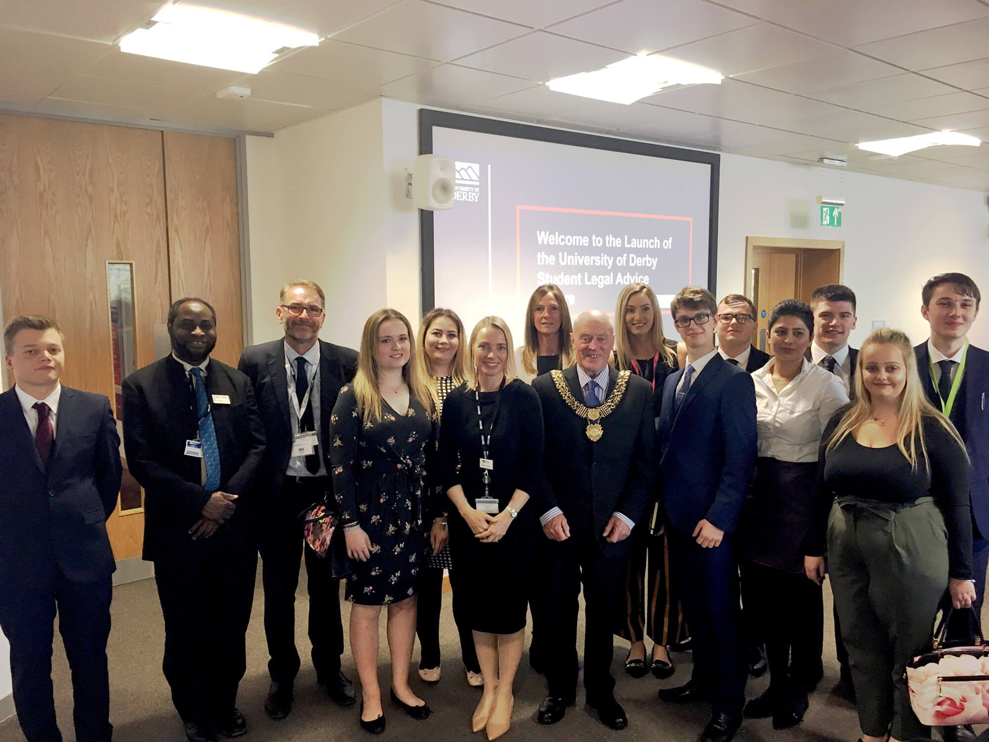 University launch event for the Student Legal Advice Centre