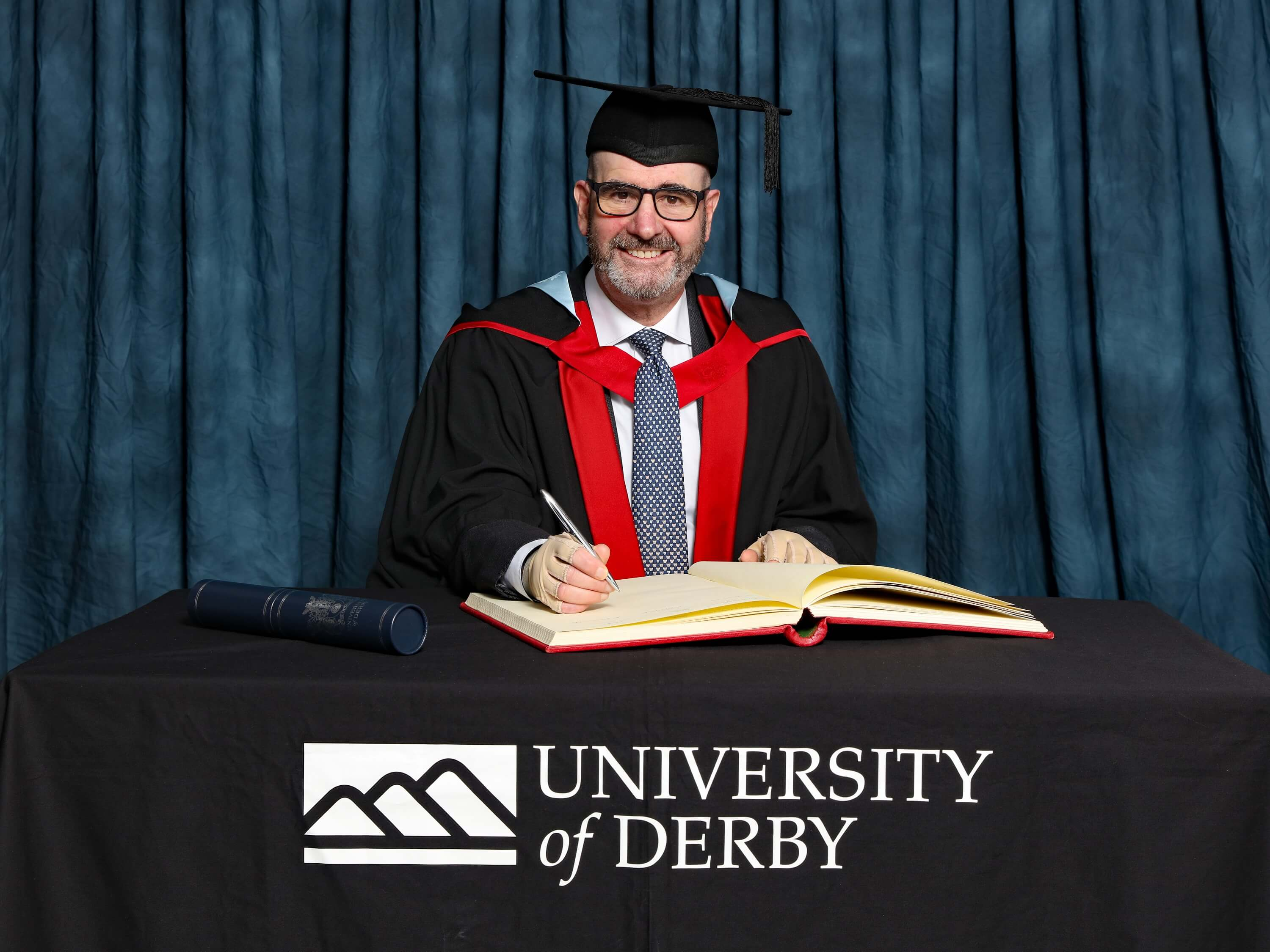 Steve Perez receives an Honorary Degree from the University