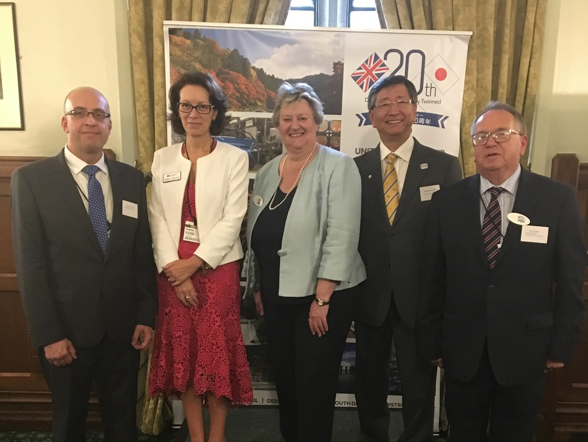 Westminster event to mark the 20th anniversary of the twinning of Derbyshire with Toyota City