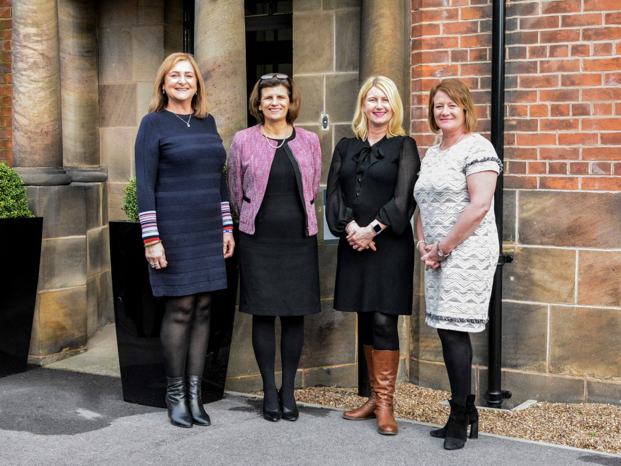 From left, Jacqui Willis, chief executive of Derbyshire Voluntary Action, Professor Kathryn Mitchell, Vice-Chancellor of the University of Derby, Heather Fawbert, Chair of Derbyshire Voluntary Action, and Michelle Brown, Head of Adult Nursing at the University of Derby.