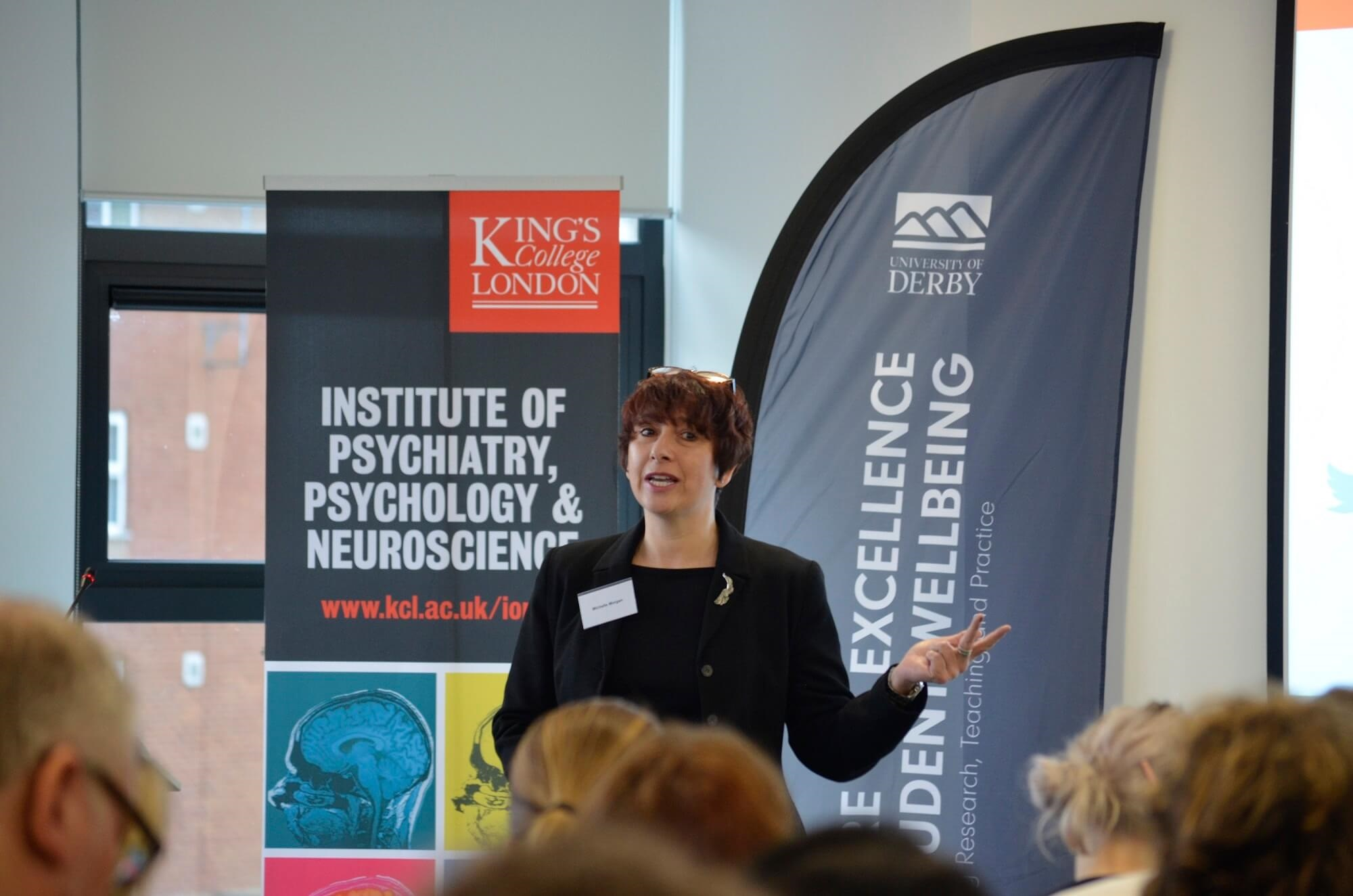 Dr Michelle Morgan at the launch of the Wellbeing Thesis