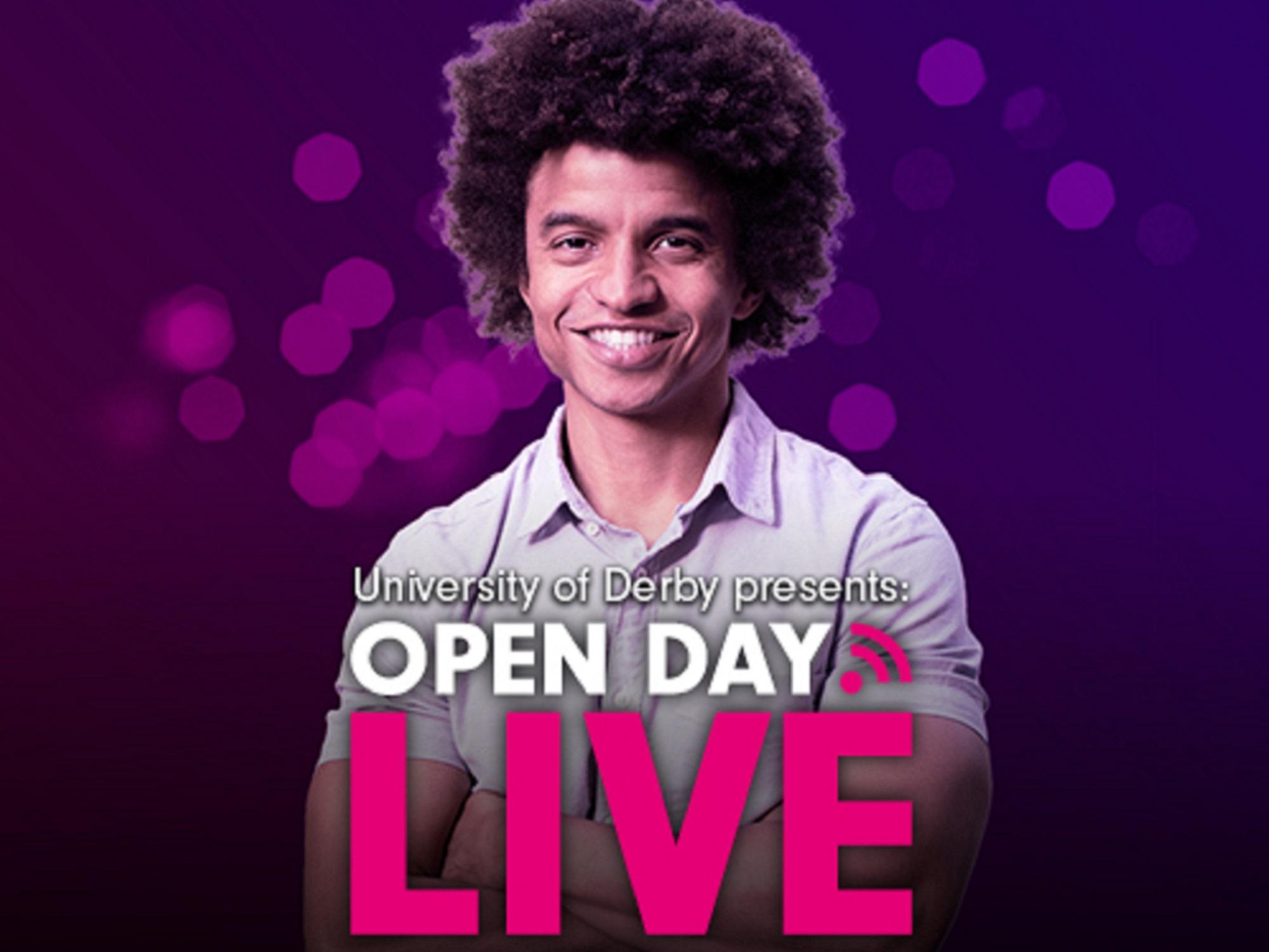 TV presenter Radzi Chinyanganya previews The University of Derby Presents...Open Day Live