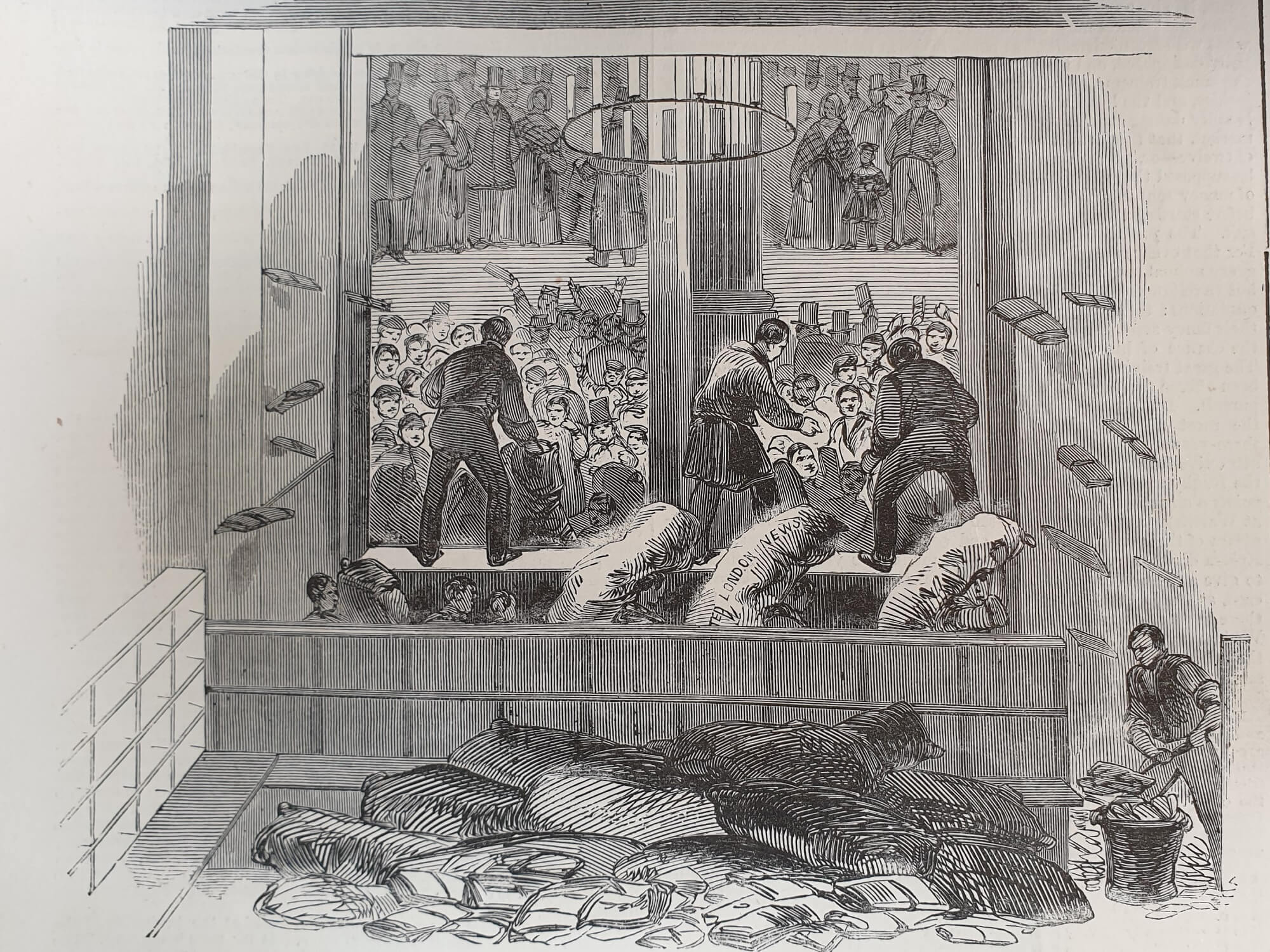 Illustration of Victorian receiving office