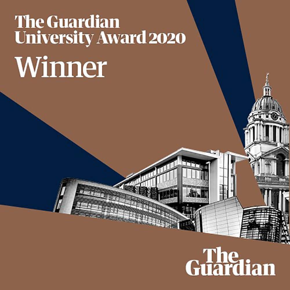 The Guardian University Award 2020 winner logo