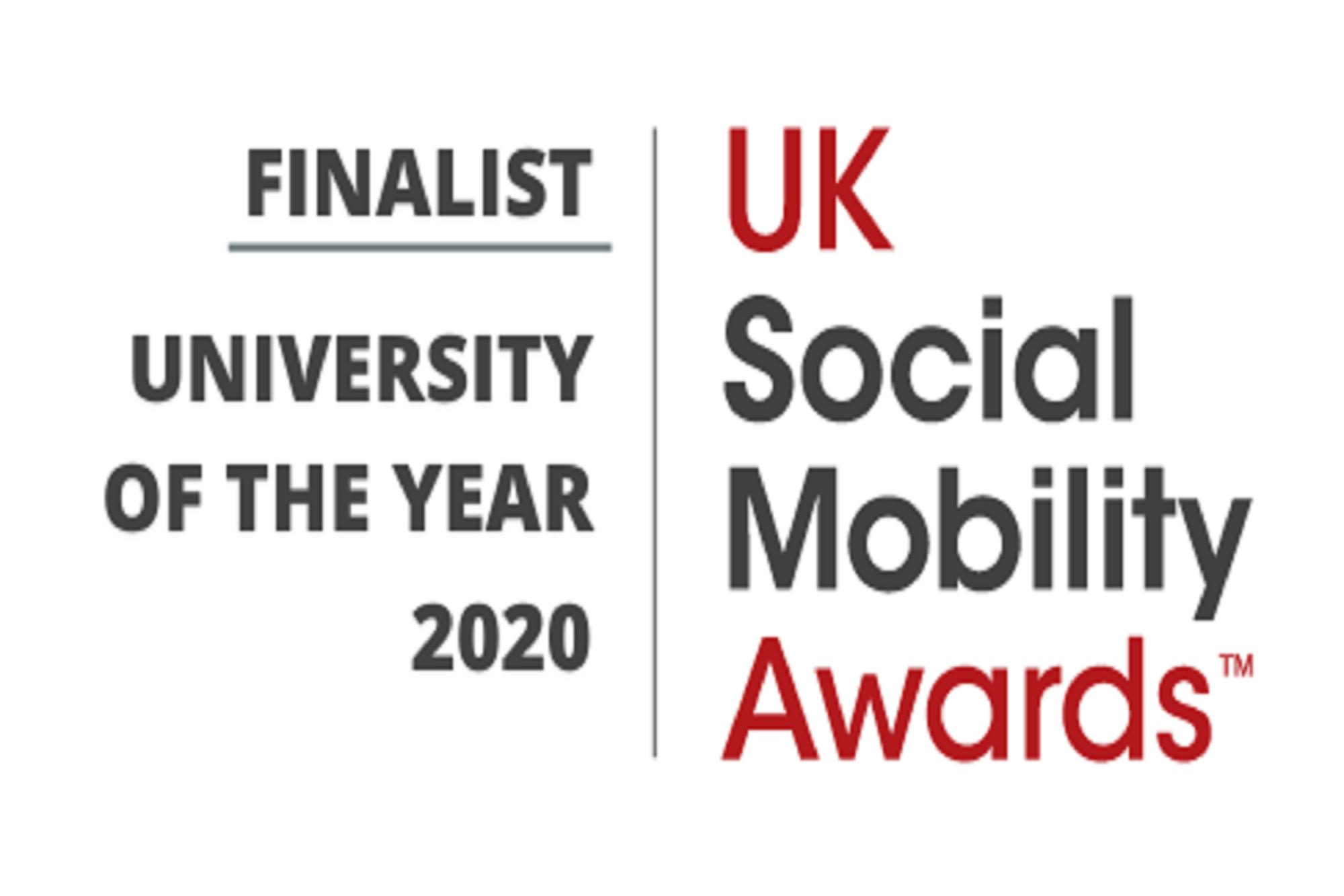 UK Social Mobility Awards finalist logo